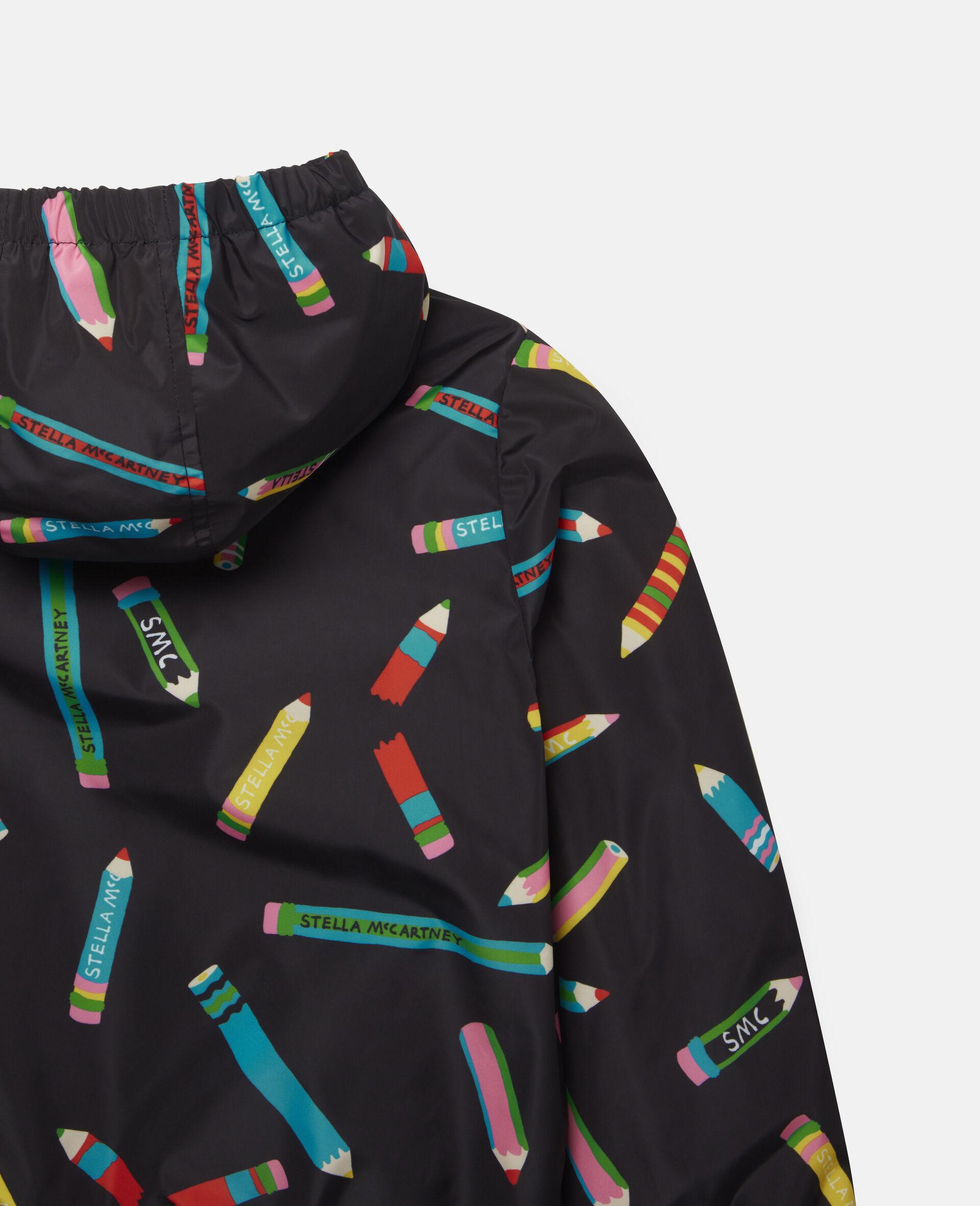 Pencils Hooded Jacket -Black-large image number 2