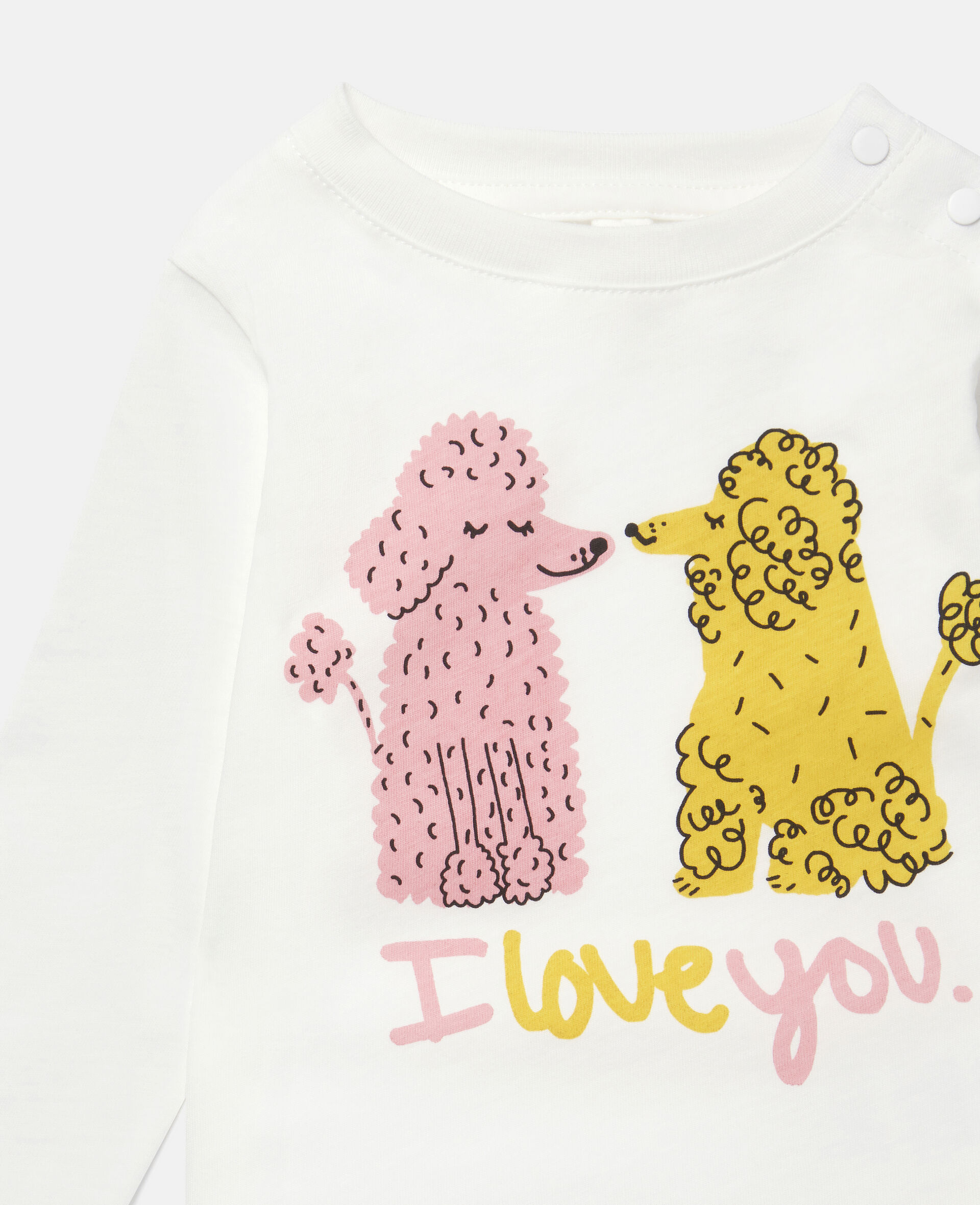 Love Poodles Cotton Top-White-large image number 1