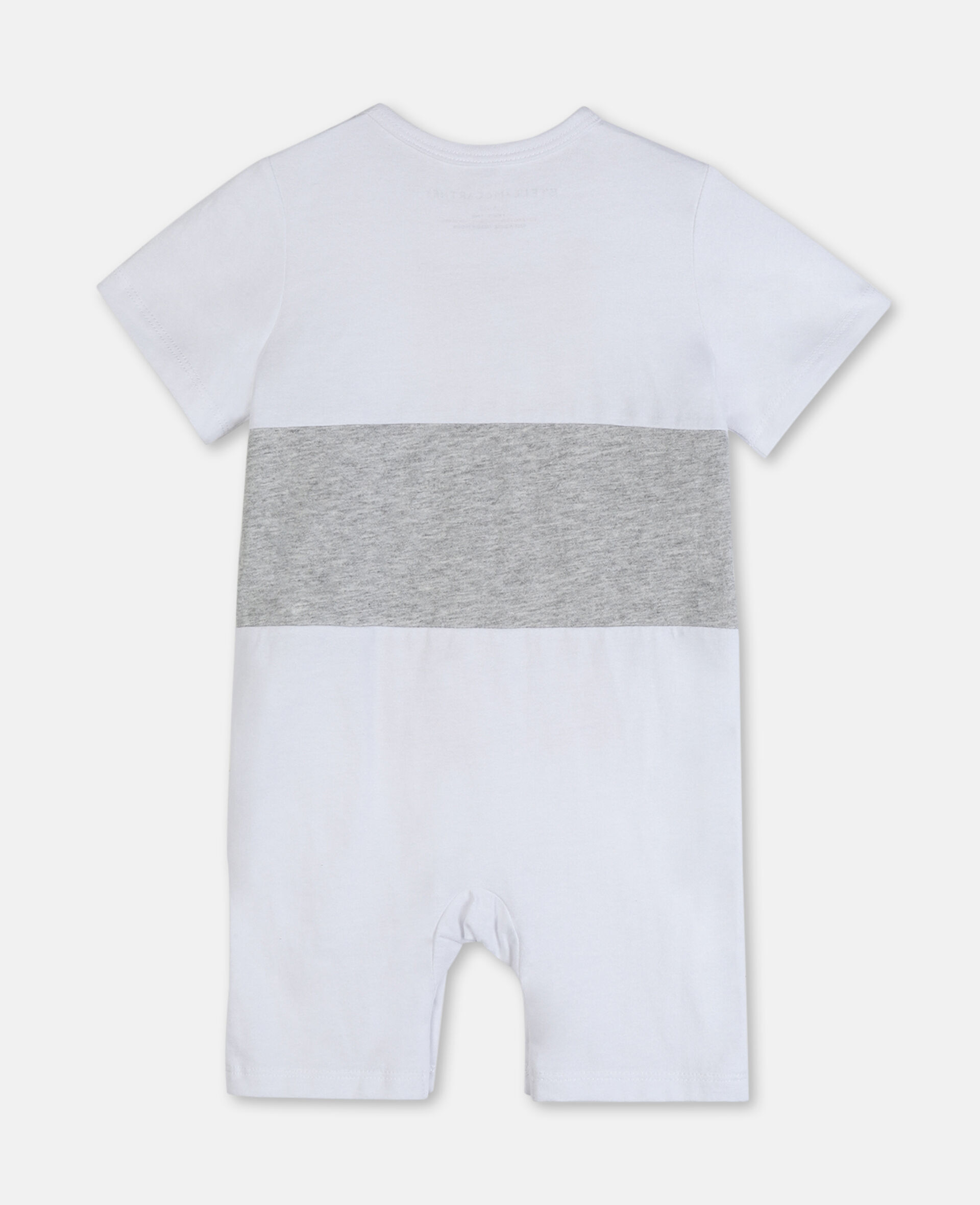 Jumpsuit aus Baumwolle mit Tiger-Print-Weiß-large image number 3