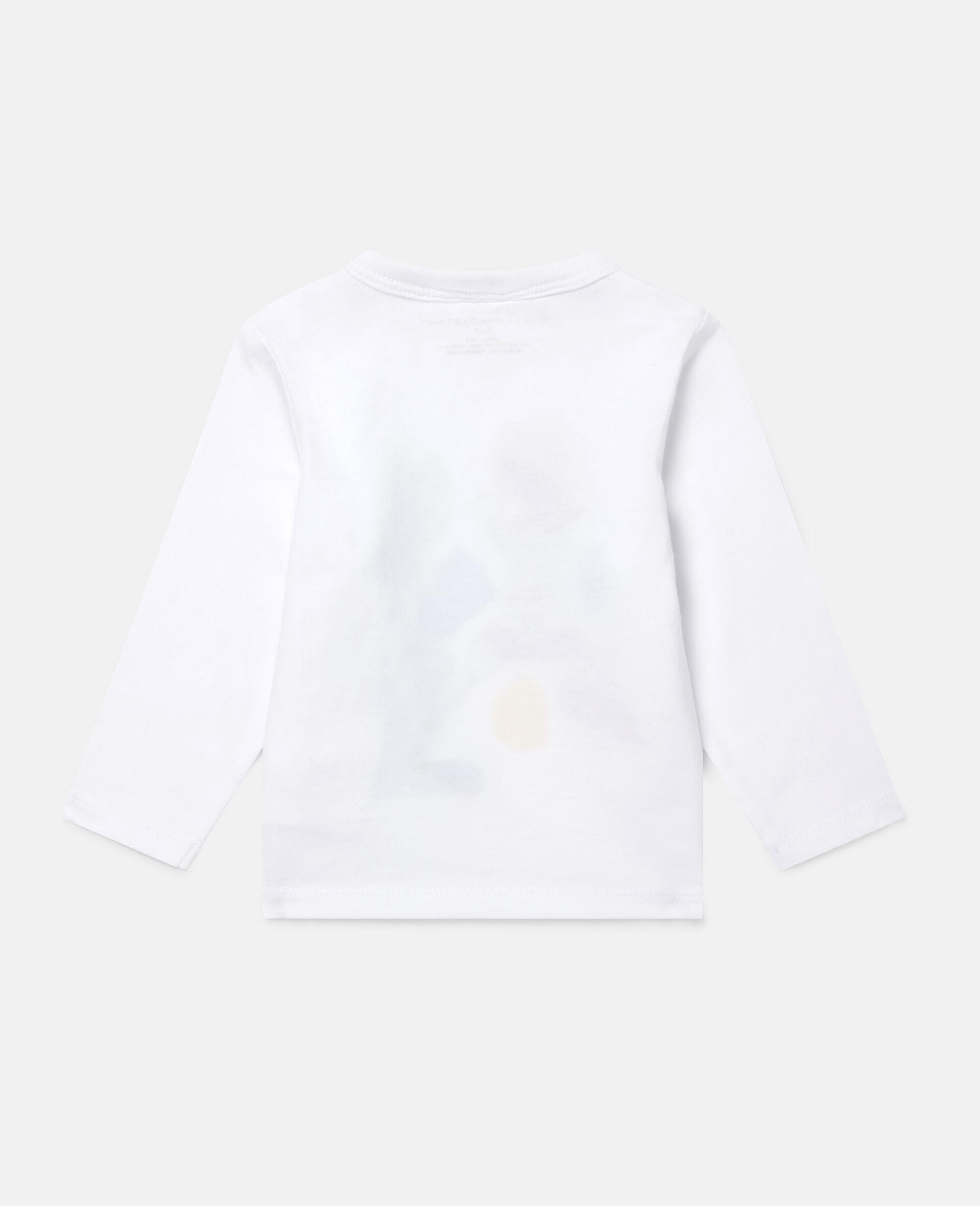 Haut imprimé aérosols peinture-Blanc-large image number 3