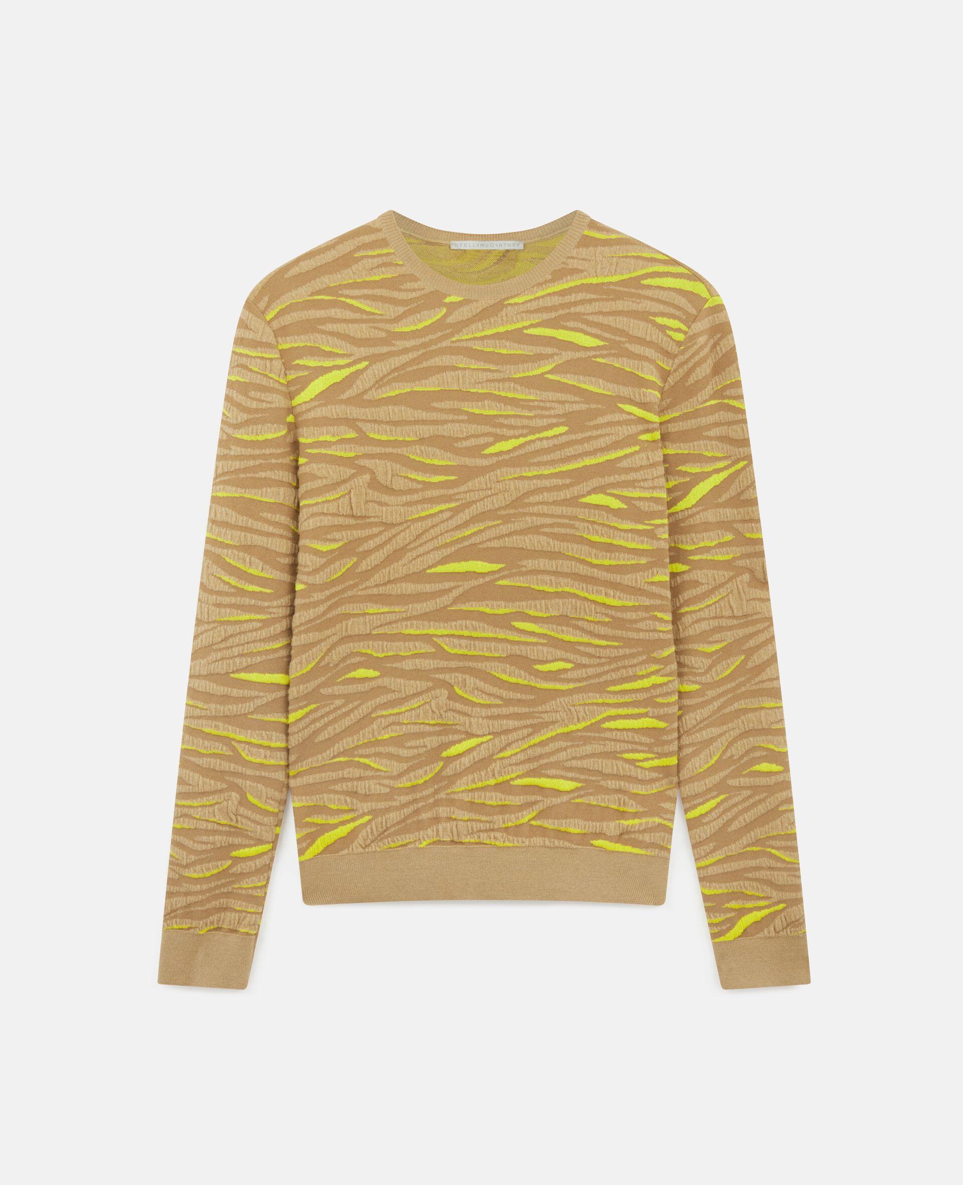 Animal Pattern Sweater-Brown-large image number 0