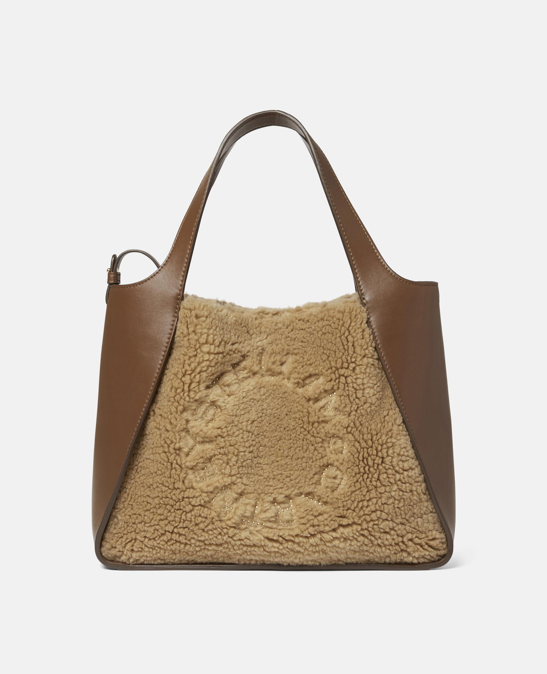 Stella Logo Teddy Mat Crossbody Bag -Brown-large image number 0