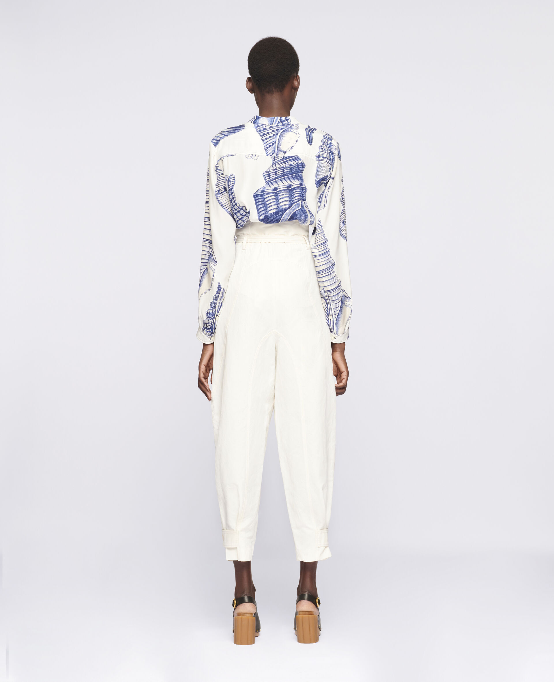 Daisy Tapered Trousers-White-large image number 2