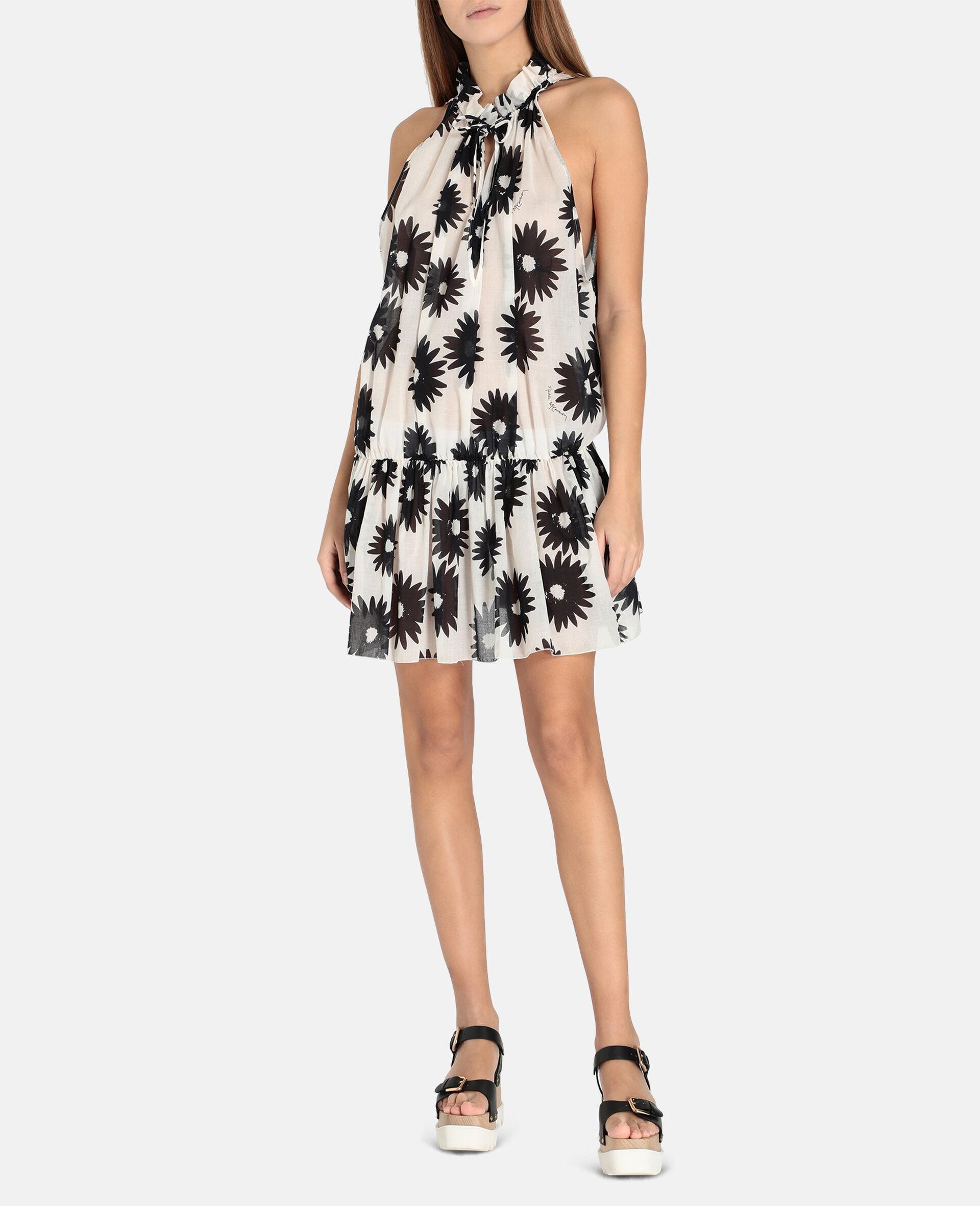 Linda Floral Print Short Dress-Multicolour-large image number 1