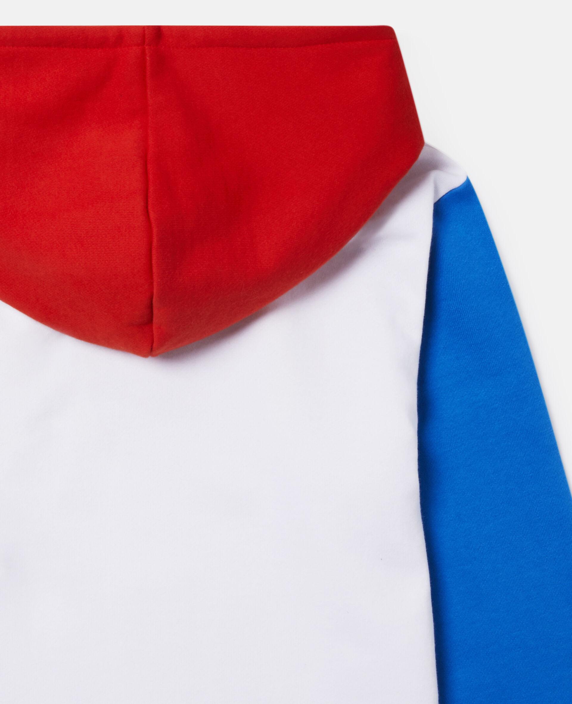 Fun Colour block Oversize Fleece Hoodie-Multicolour-large image number 2