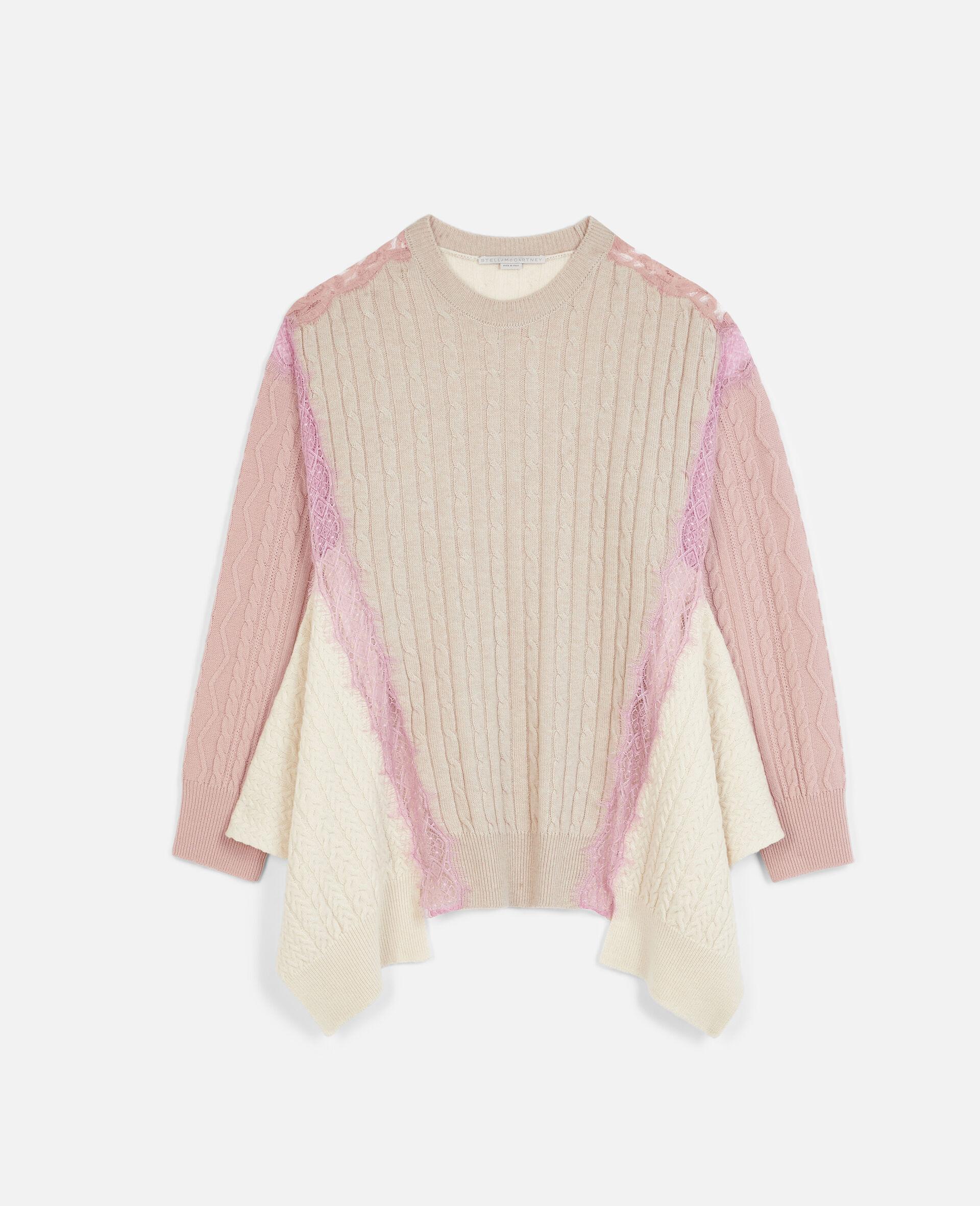Oversized Wool Jumper -Beige-large image number 0