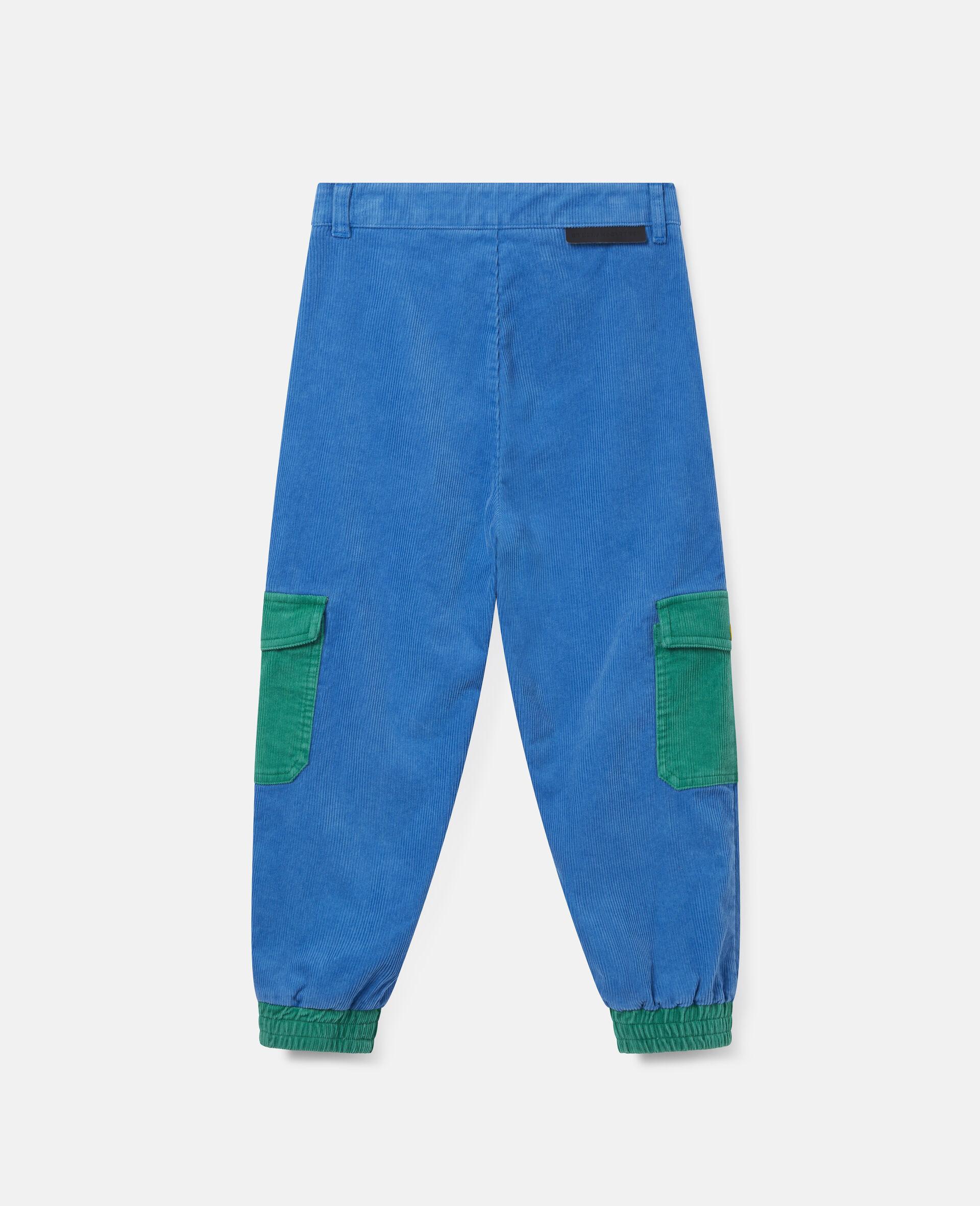 Cargo Corduroy Pants-Blue-large image number 3