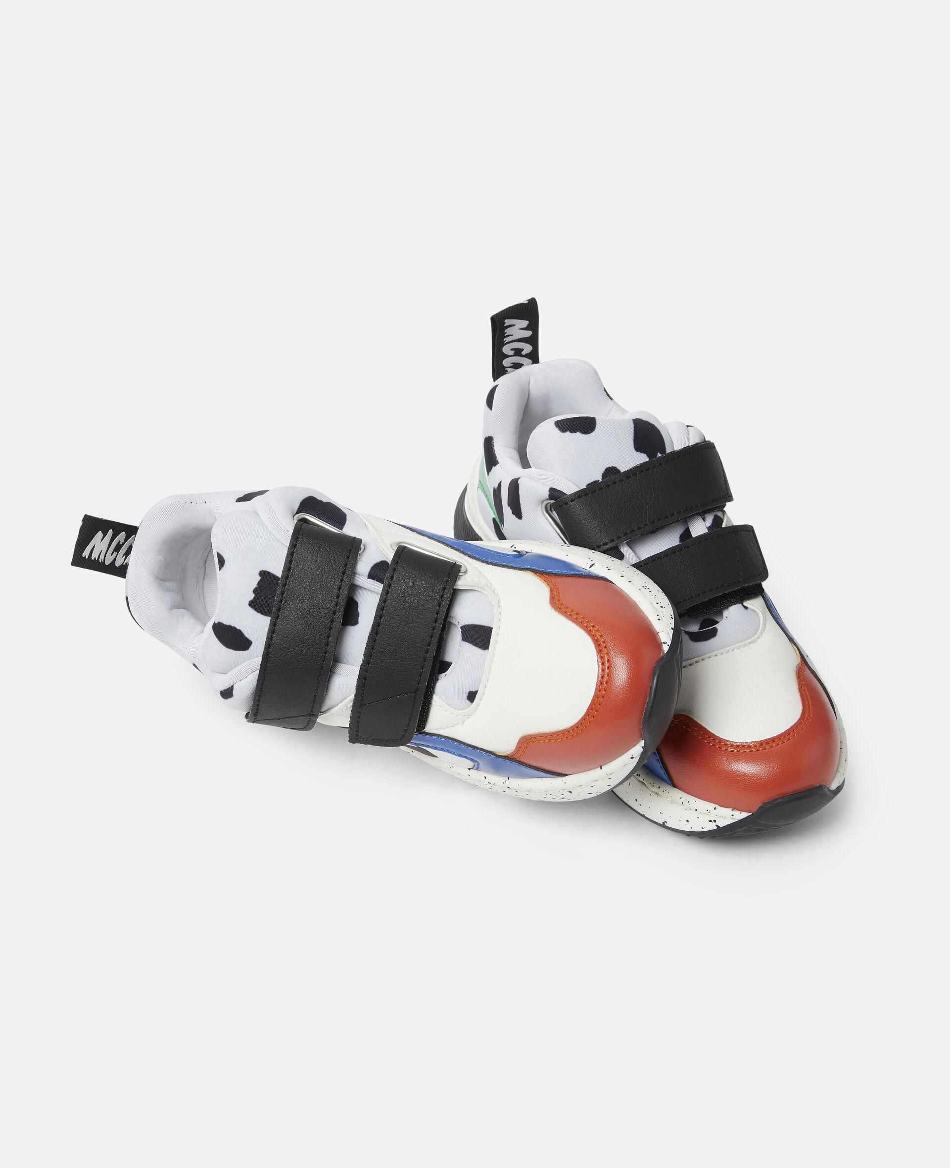 Baskets à taches dalmatien-Blanc-large image number 1