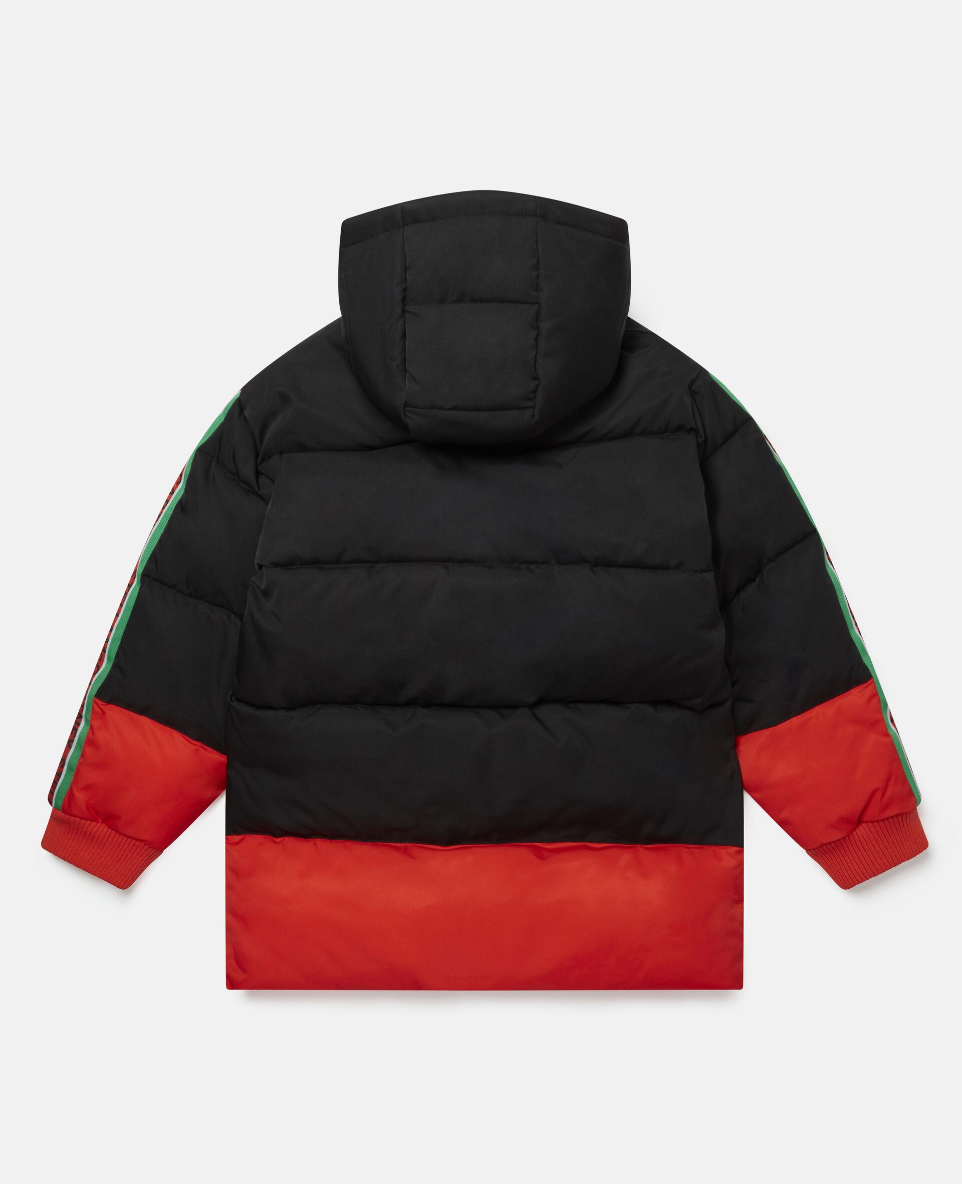 Oversized Logo Puffer Jacket-Multicolour-large image number 3