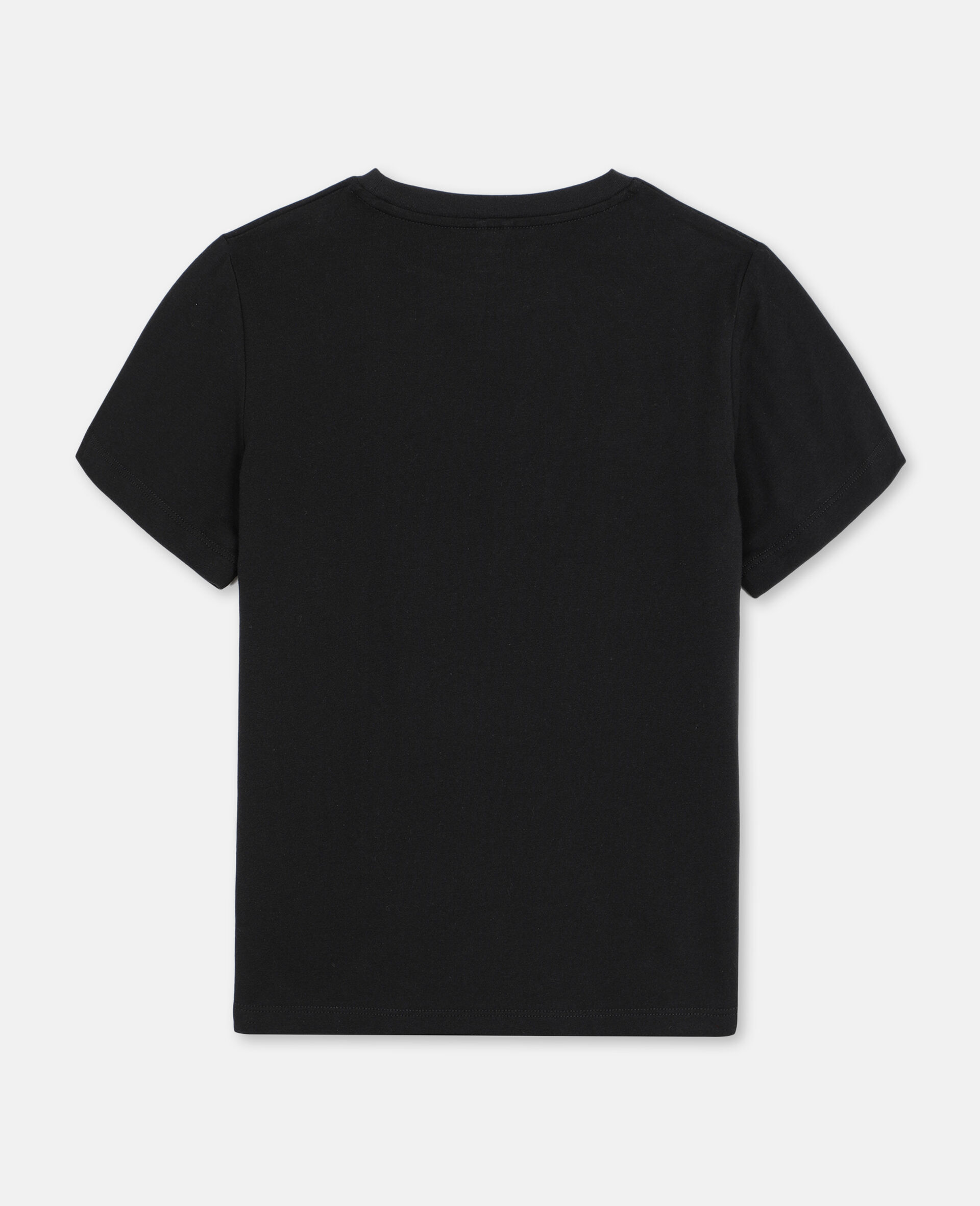 Baumwoll-T-Shirt mit 3D-Logo-Aufnäher-Schwarz-large image number 3