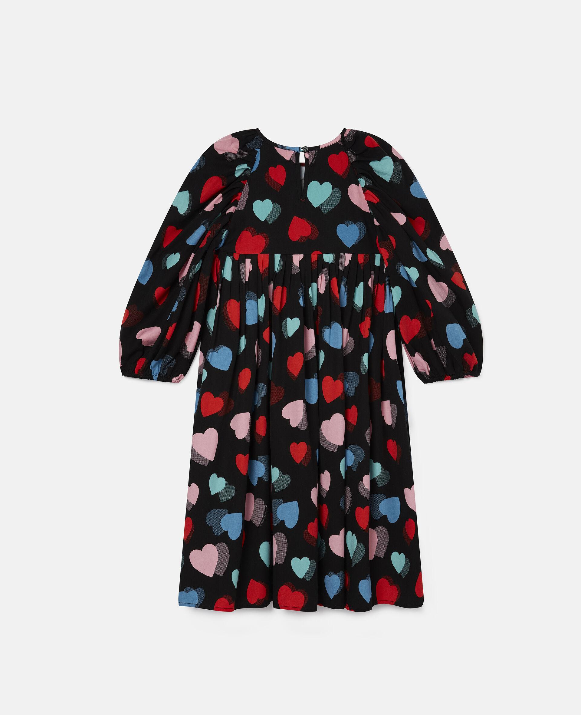 Kleid aus Tencel-Twill mit Herzen-Print-Bunt-large image number 3