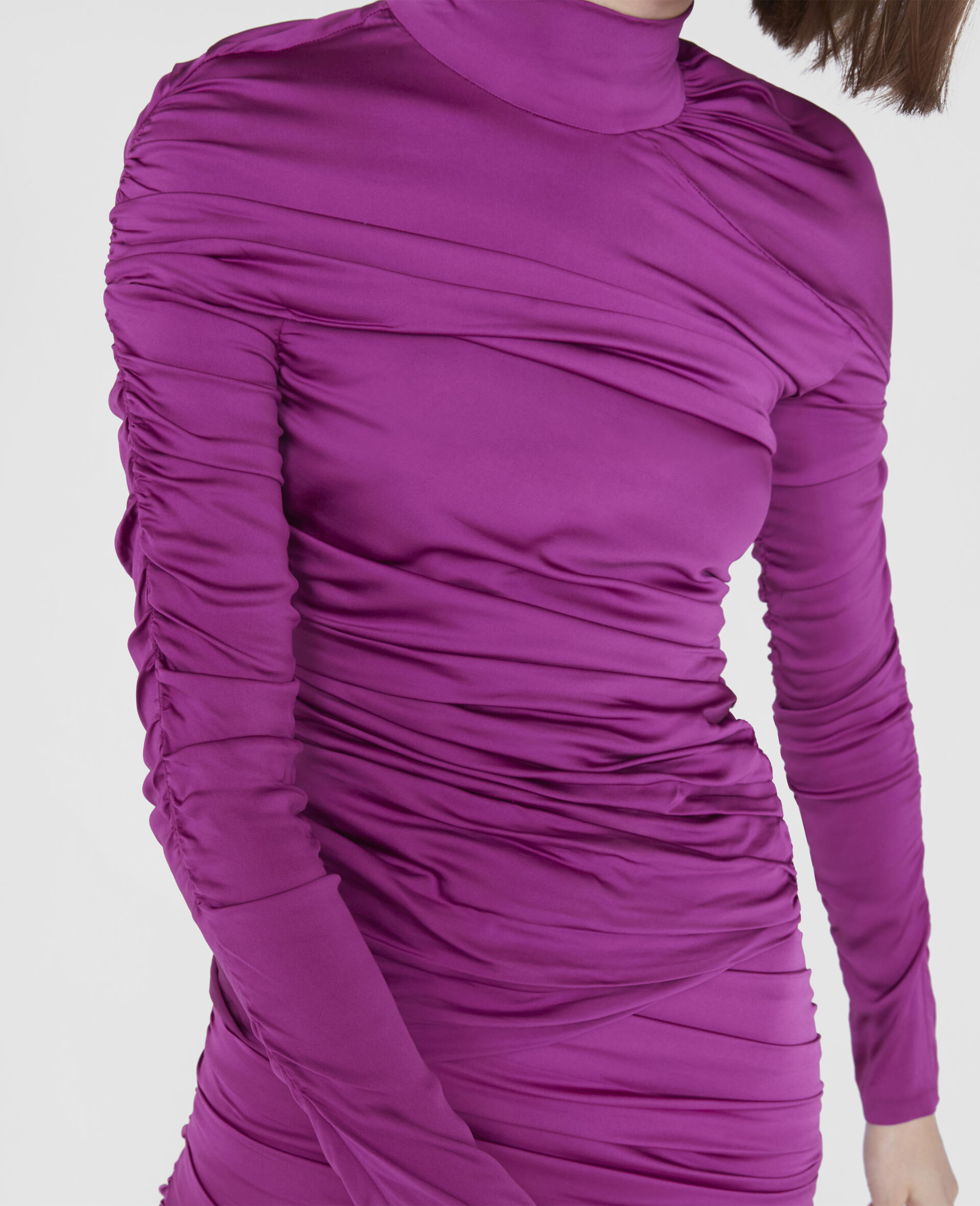 Faye Ruched Top-Purple-large image number 3