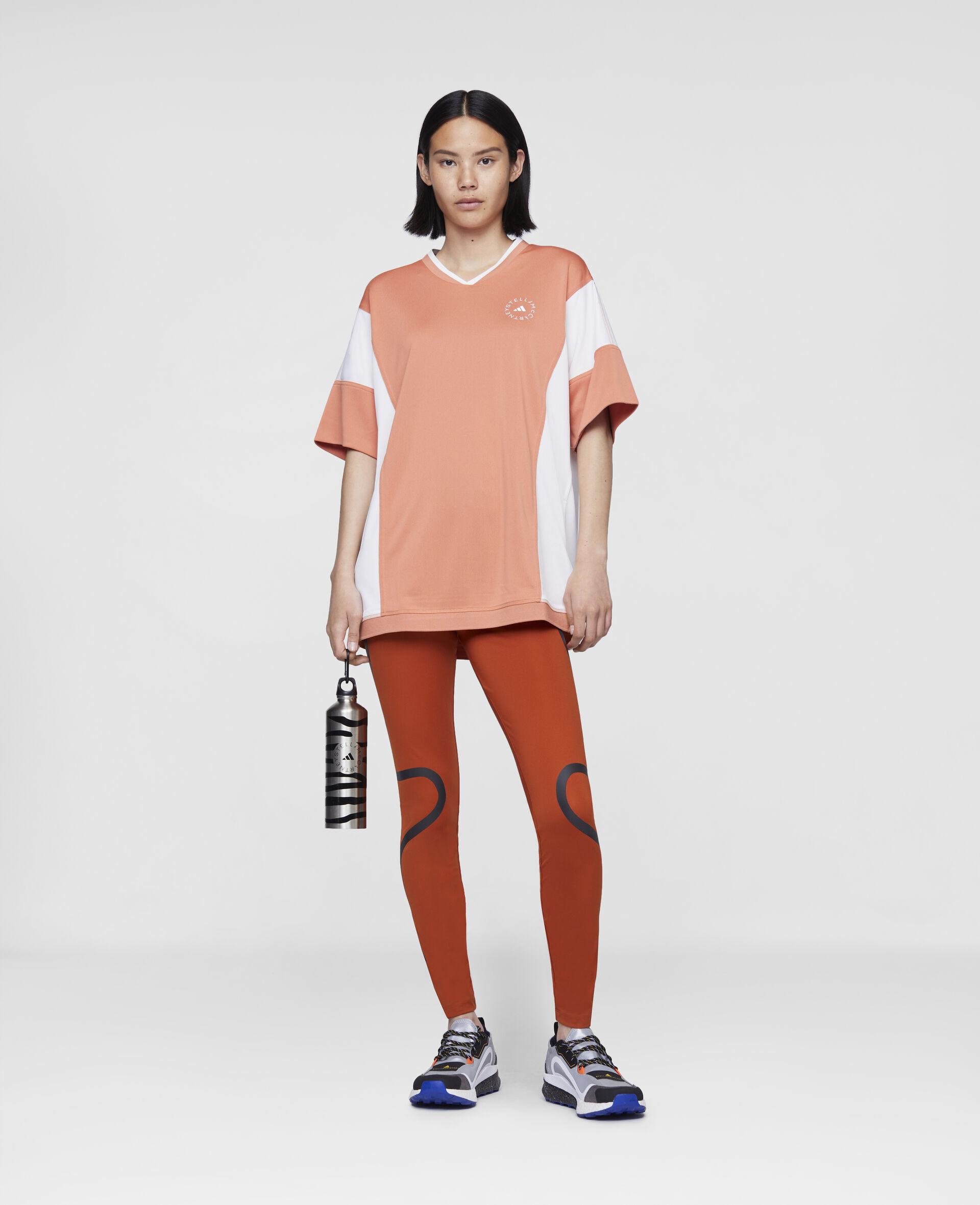 T-Shirt mit lockerer Passform in Orange-Orange-large image number 1