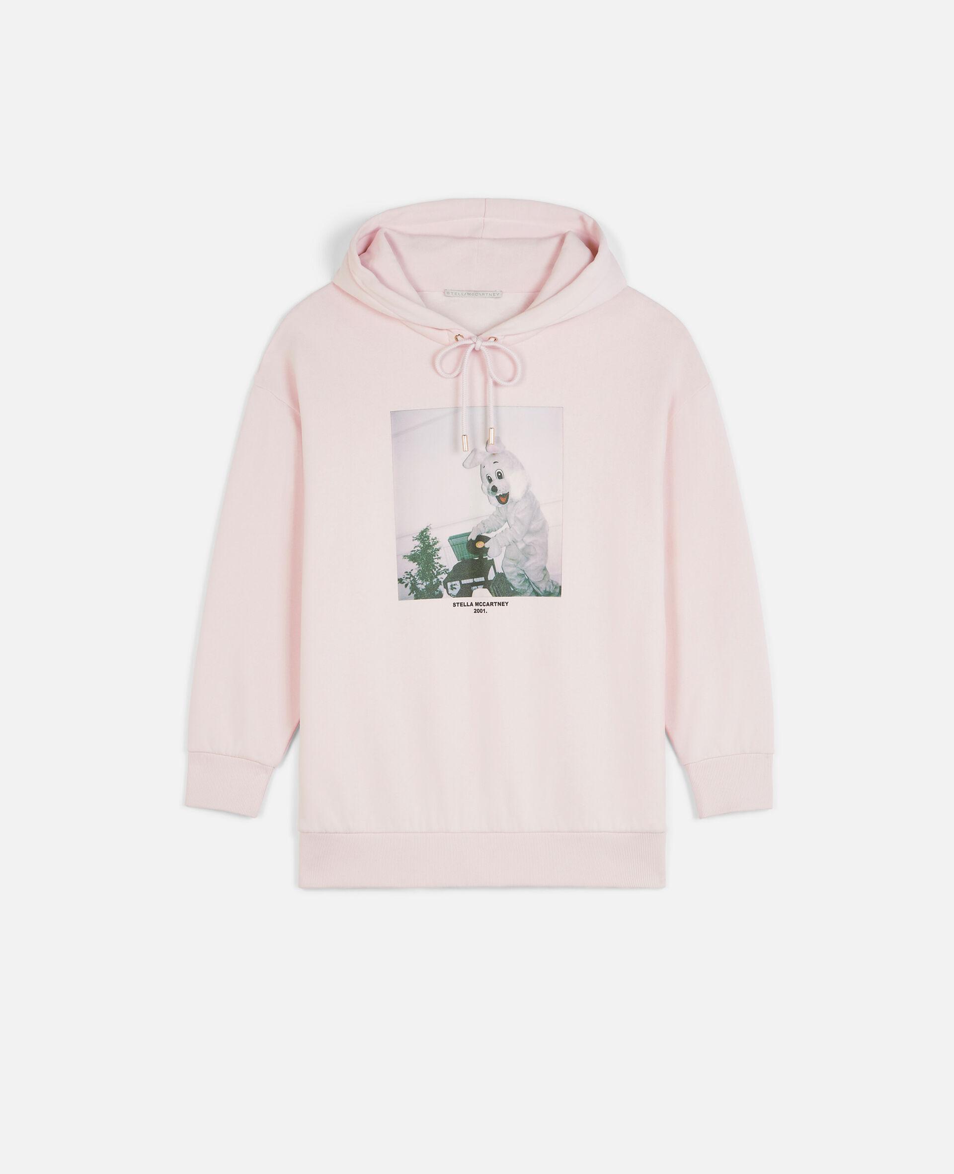 兔子印纹连帽衫-粉色-large image number 0