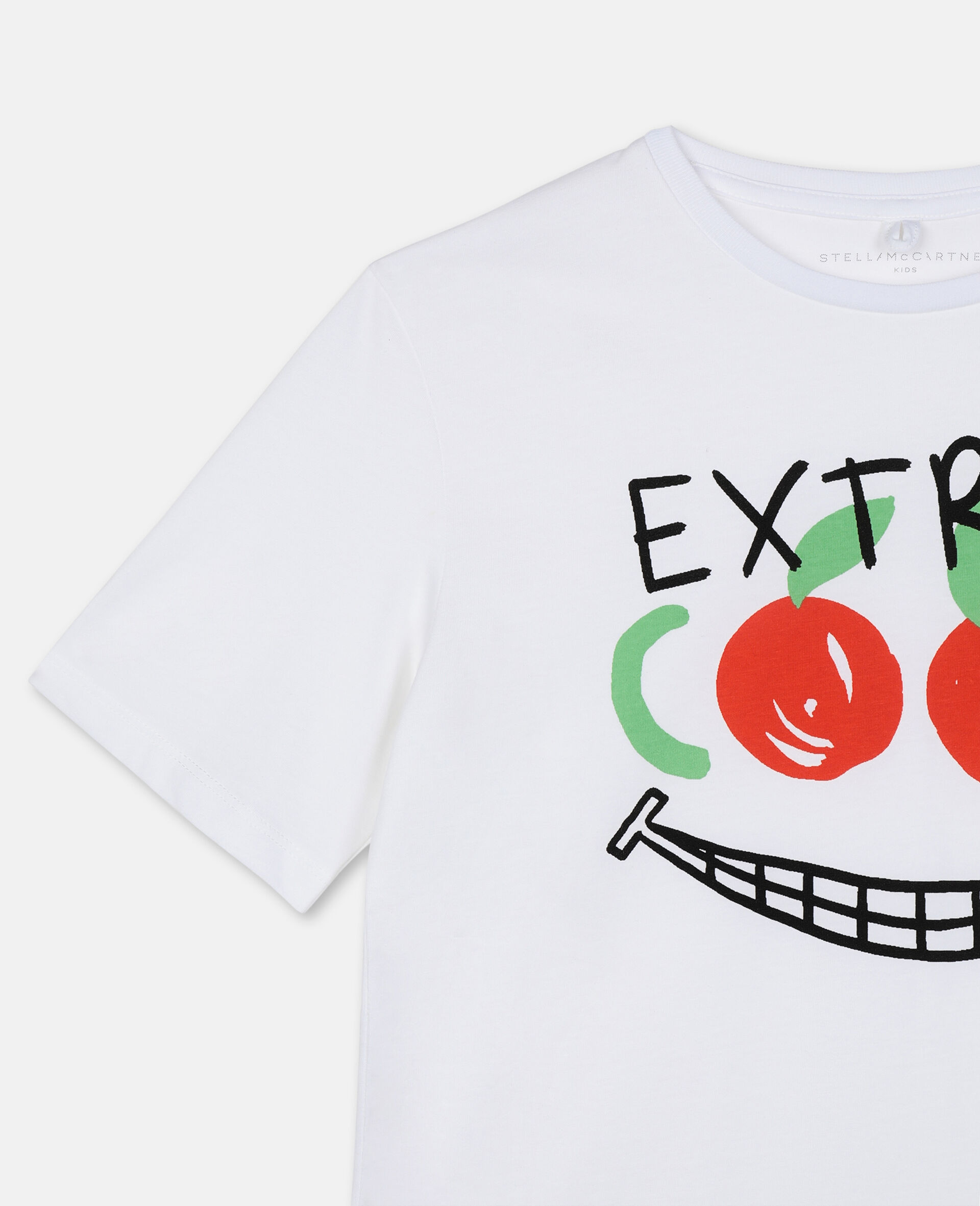Extra Cool Oversize Cotton T-shirt -White-large image number 1