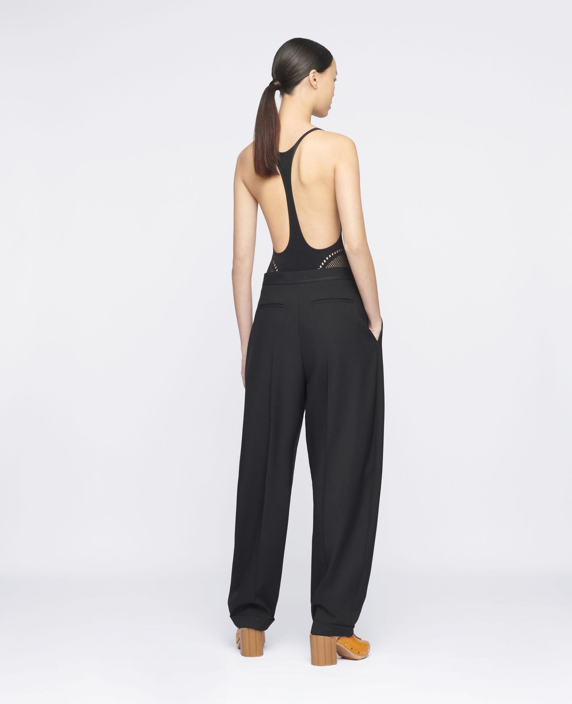 Deborah Wool Trousers-Black-large image number 2