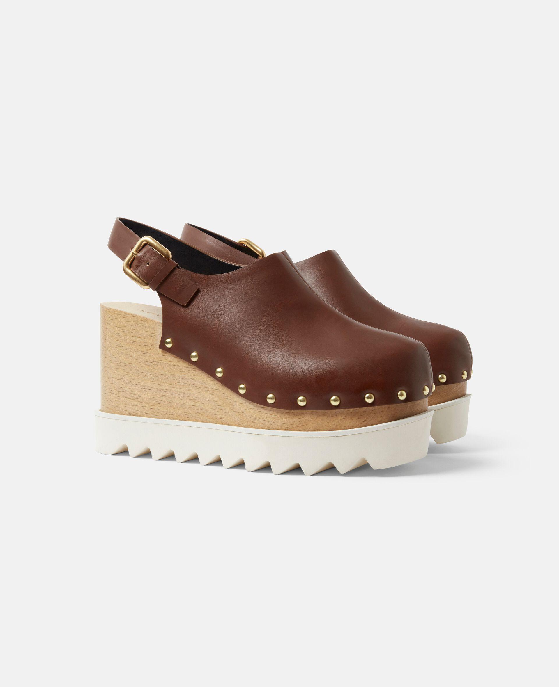 Elyse Stud Hardware Sandals-Brown-large image number 1
