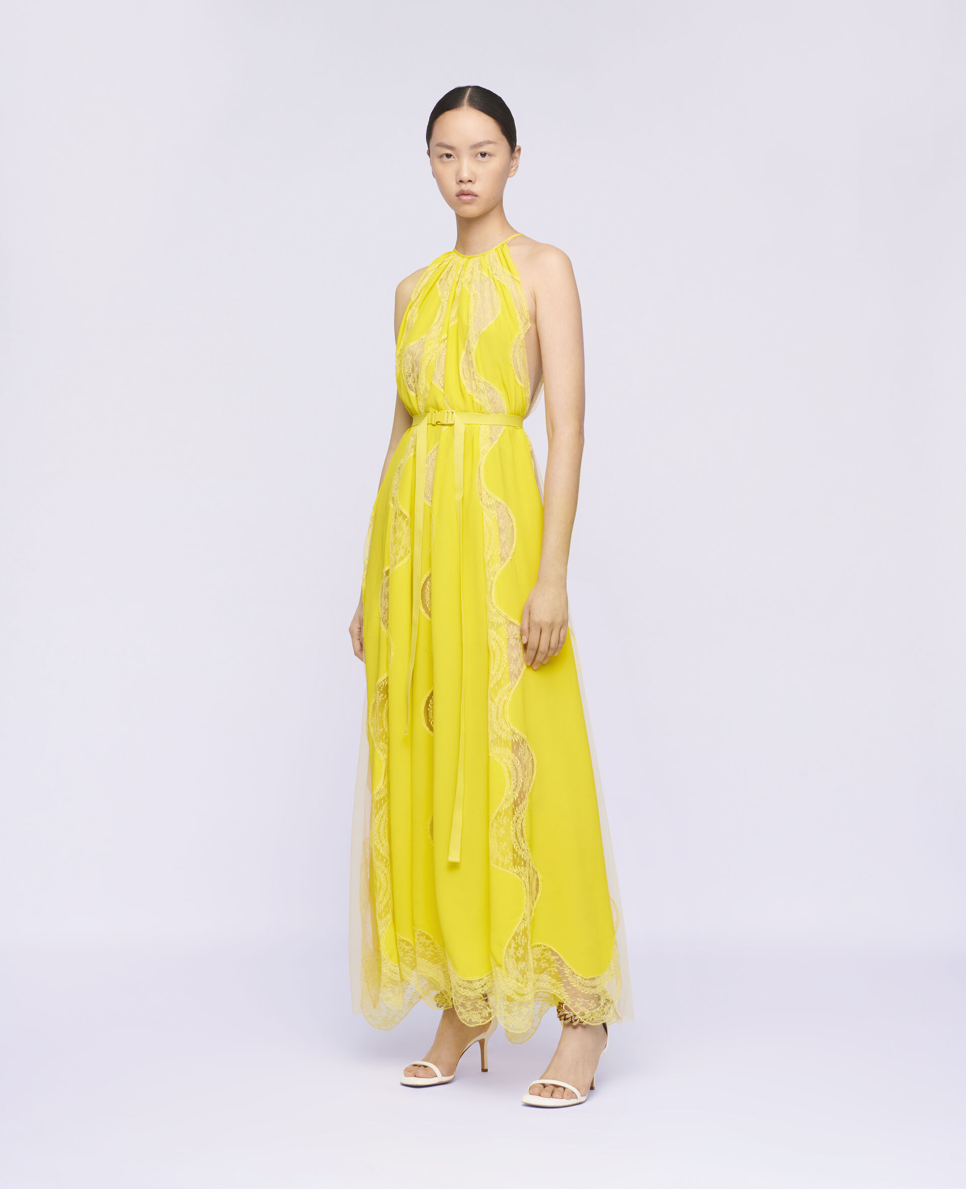 Tiffany Lace Dress -Yellow-large image number 1