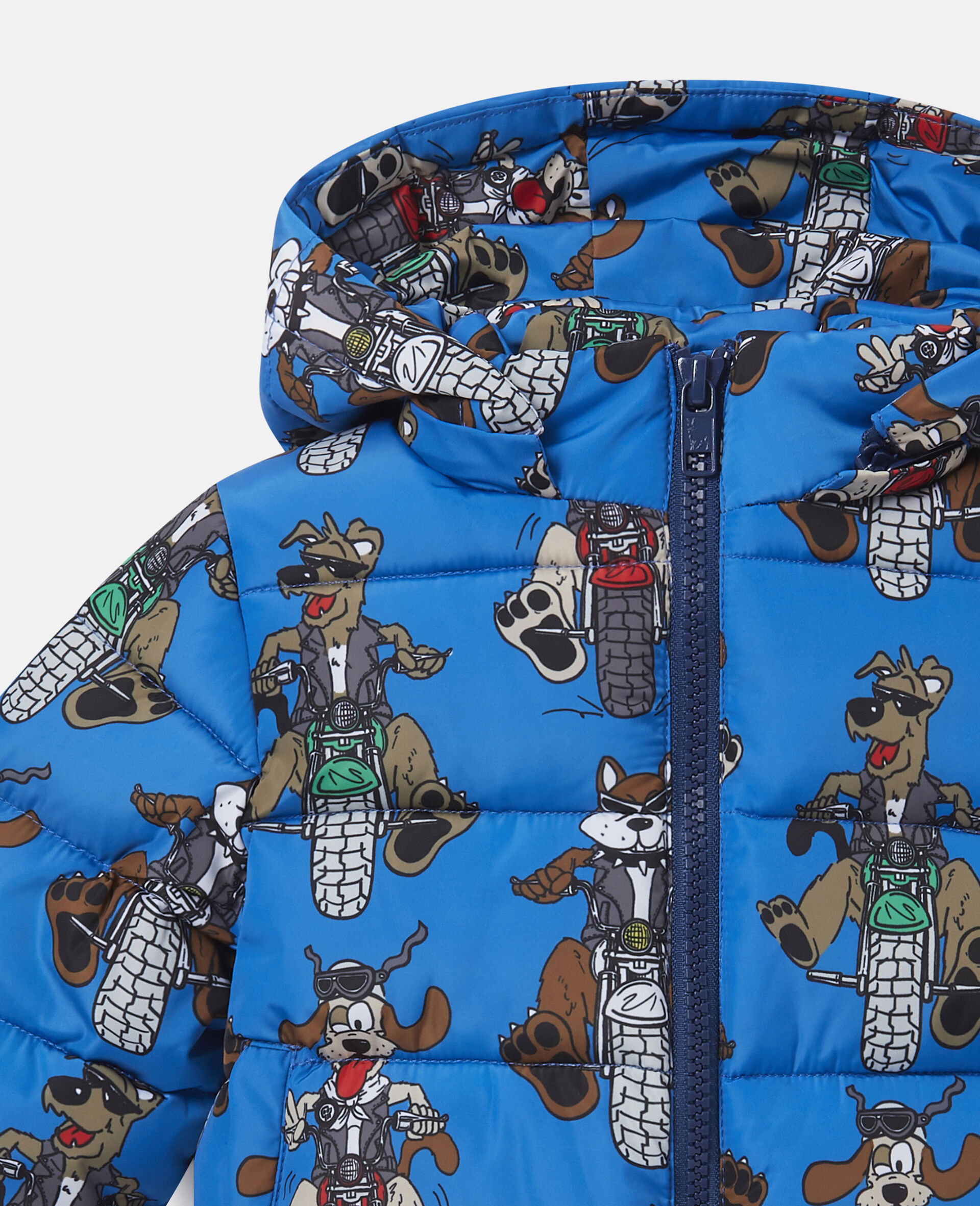 Doggie Riders Puffer Jacket-Blue-large image number 1