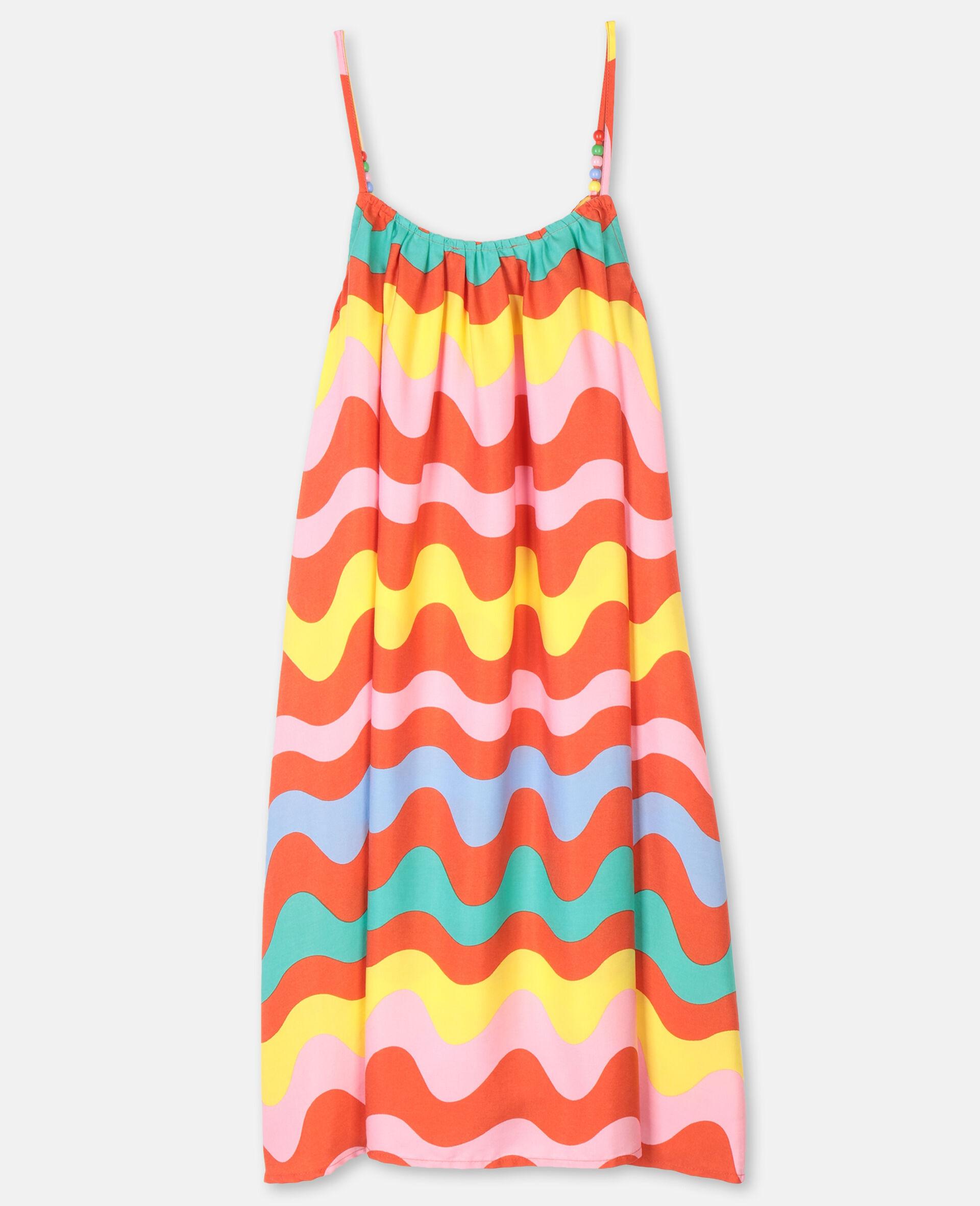 Swiggle粘胶纤维连衣裙-Multicolored-large image number 3