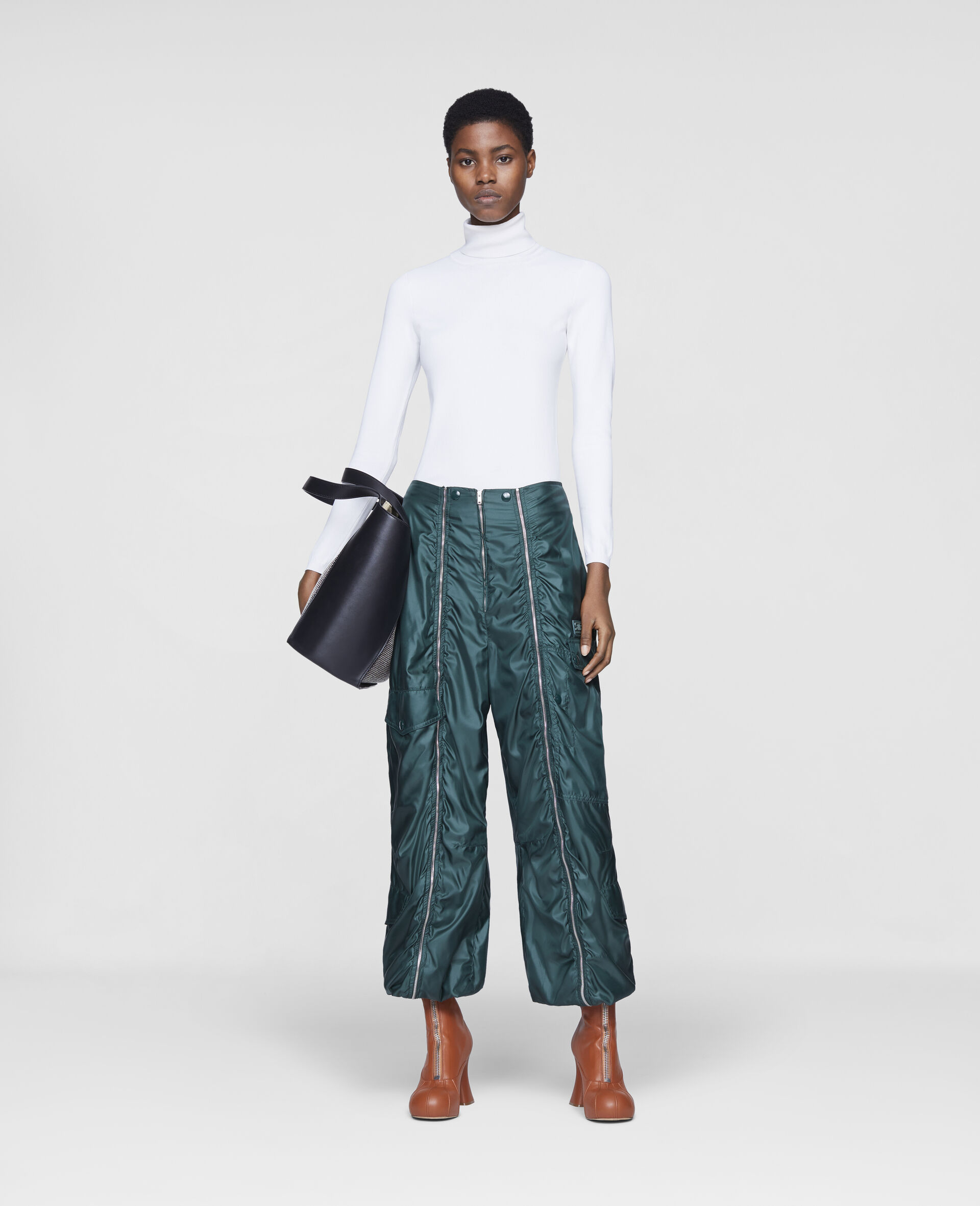 Pantaloni Nella-Verde-large image number 1