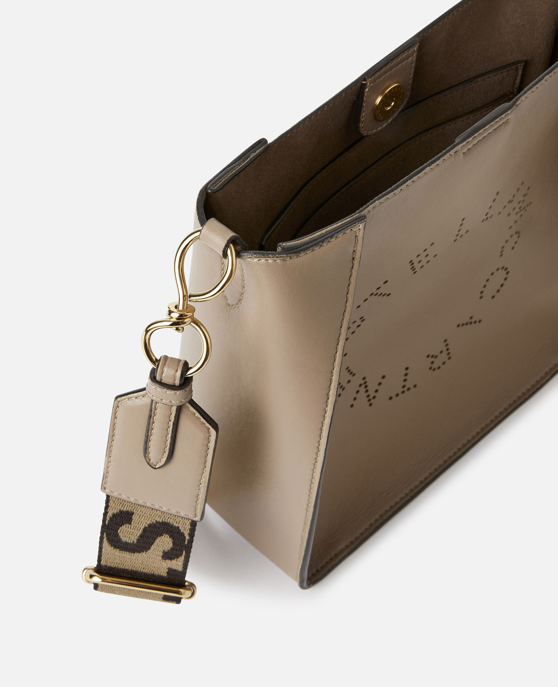 Borsa a spalla con Logo Stella-Grigio-large image number 3