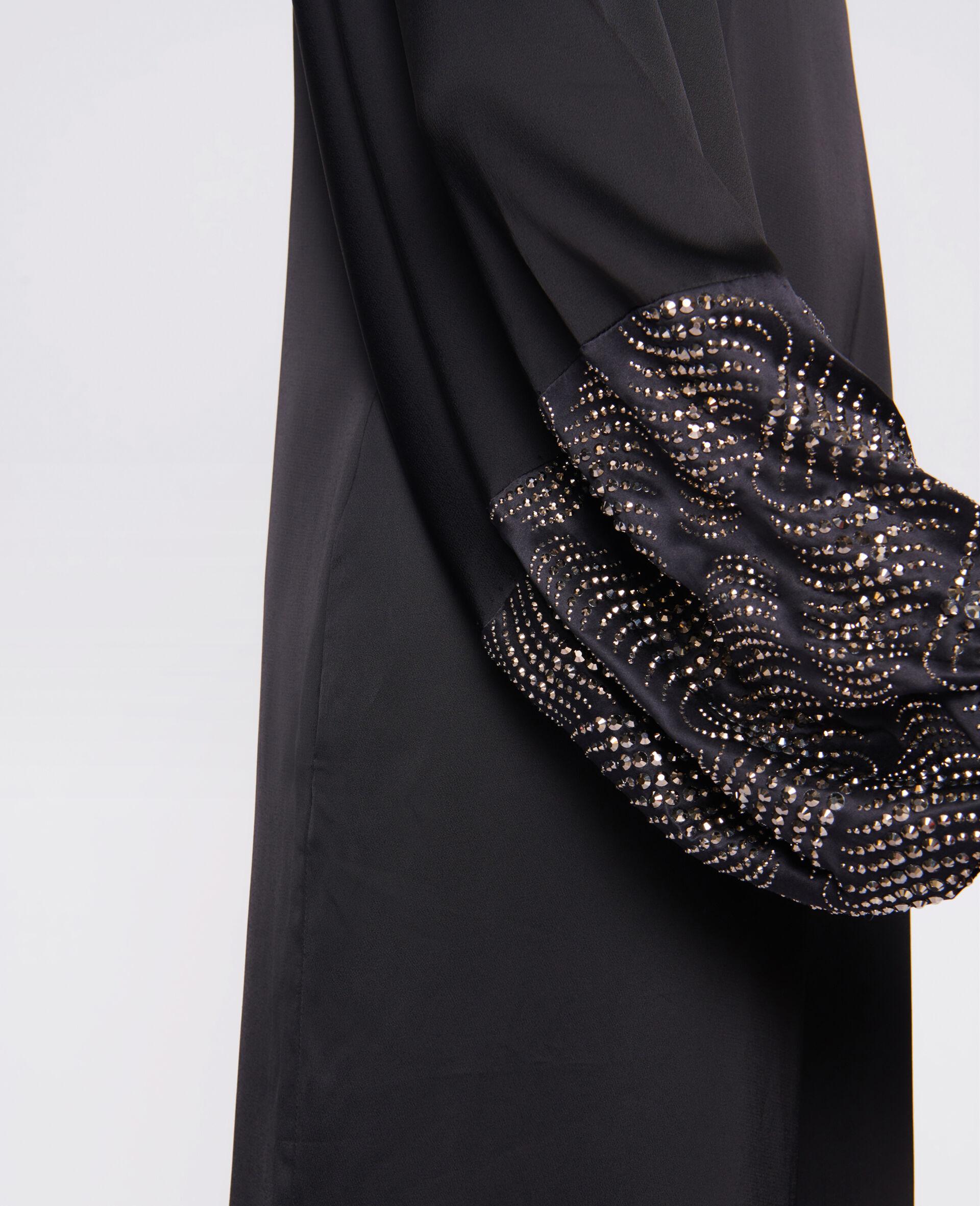 Robe Aliyah avec détail thermocollé-Noir-large image number 3