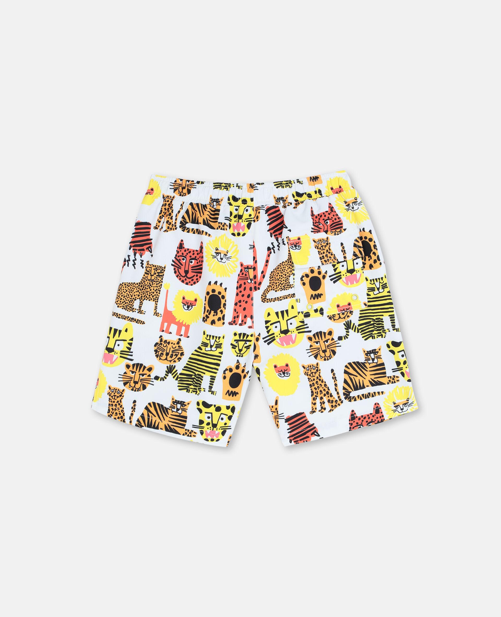 Wild Cats Swim Shorts-Yellow-large image number 4