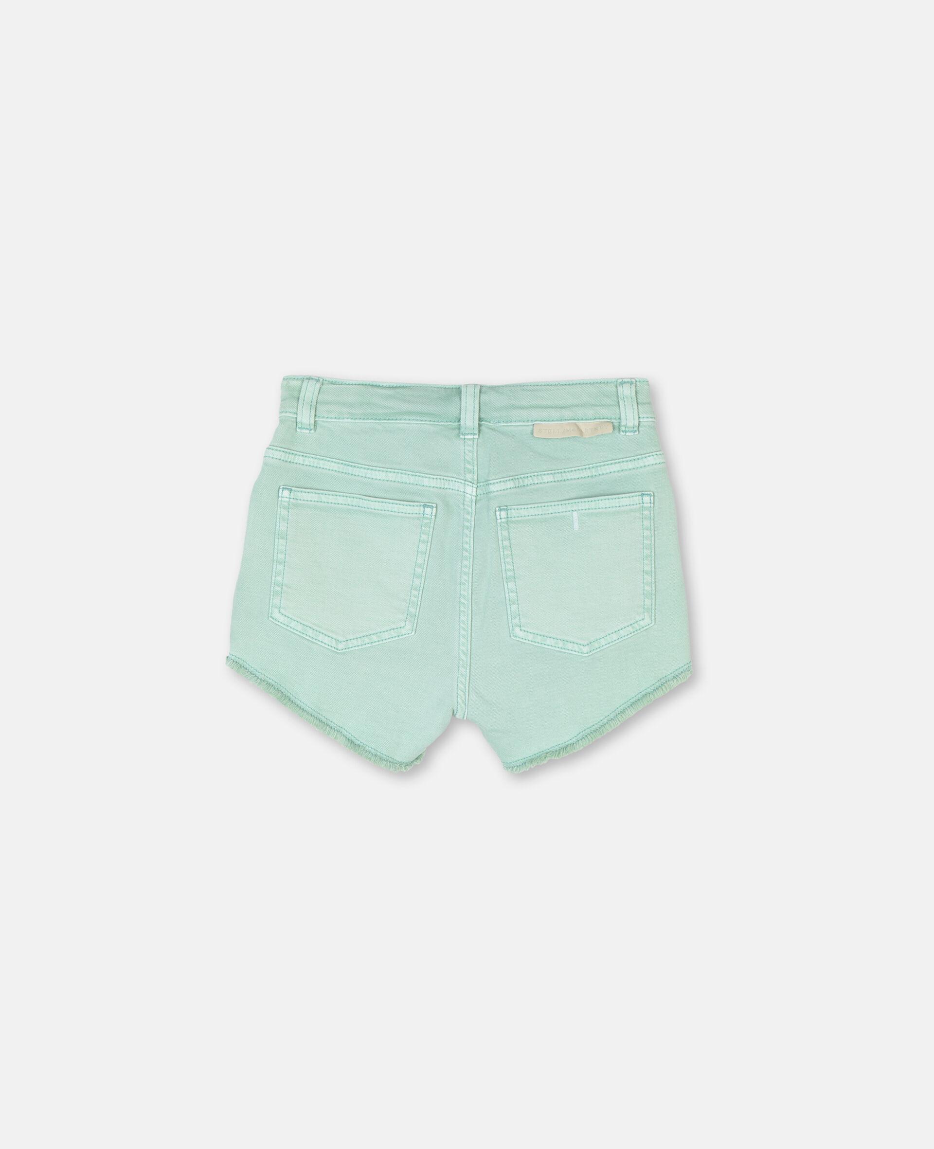 Denim Mint Shorts -Green-large image number 3