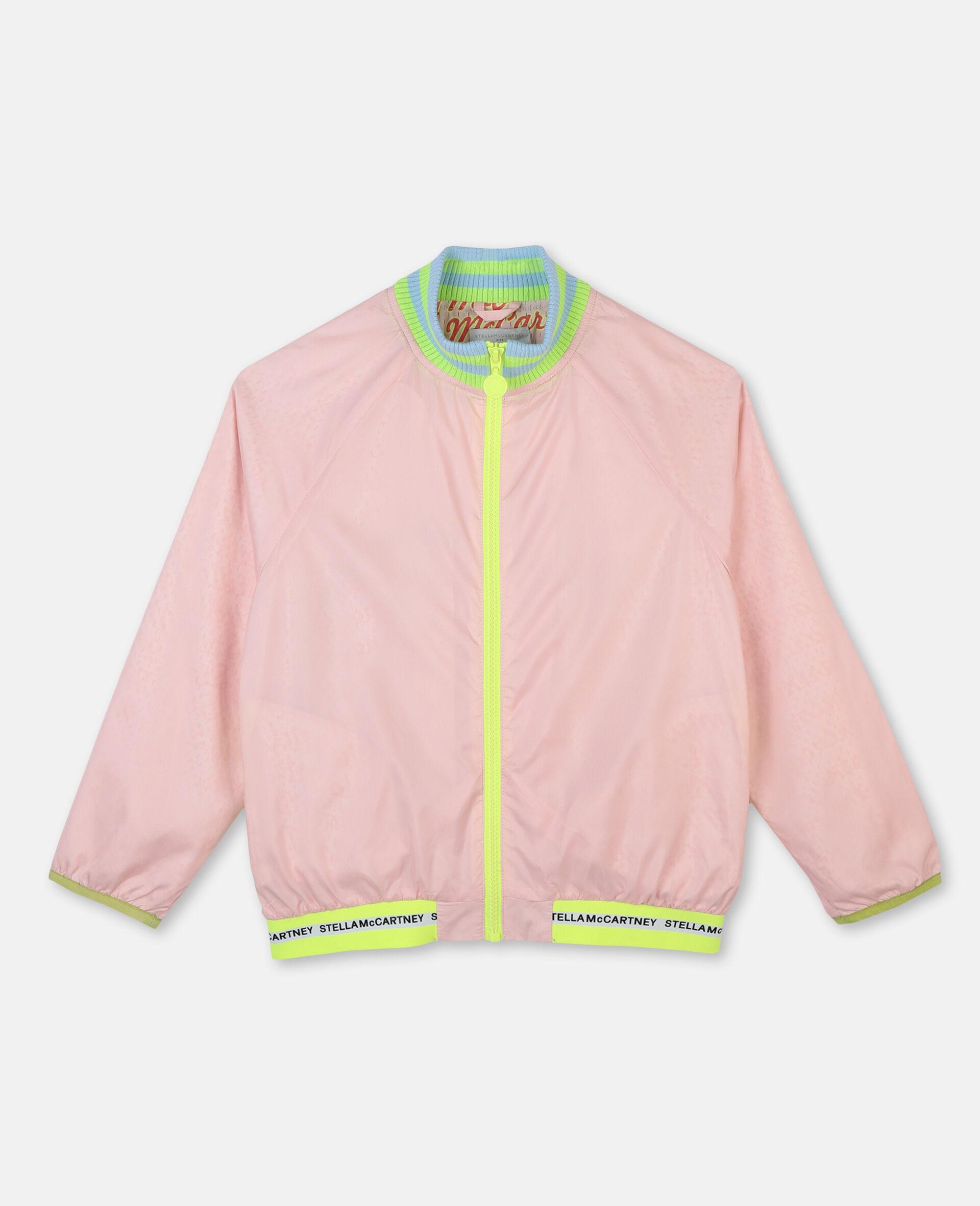 Logo Active Jacket -Pink-large image number 0