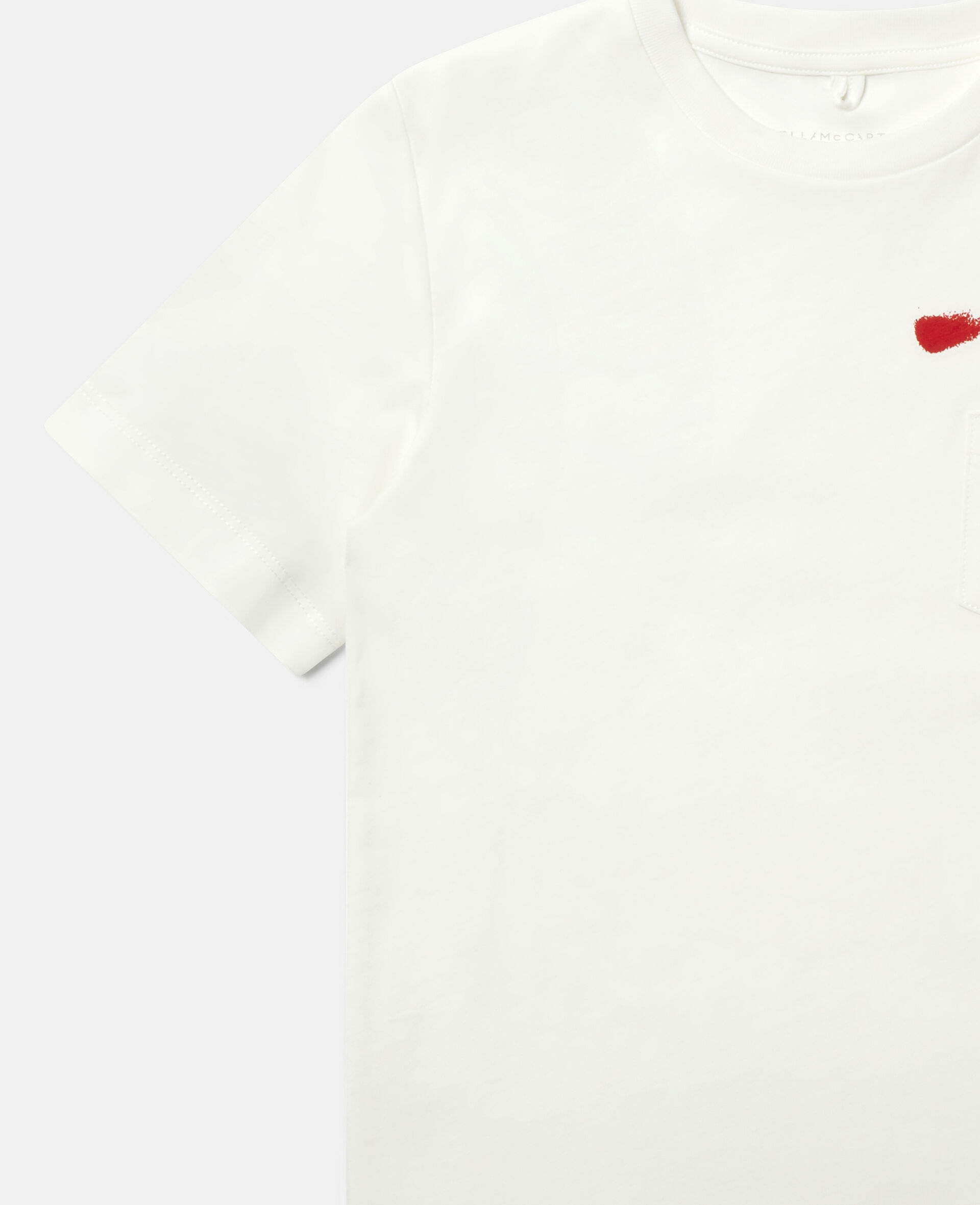 T-shirt en coton imprimé aérosol-Blanc-large image number 2