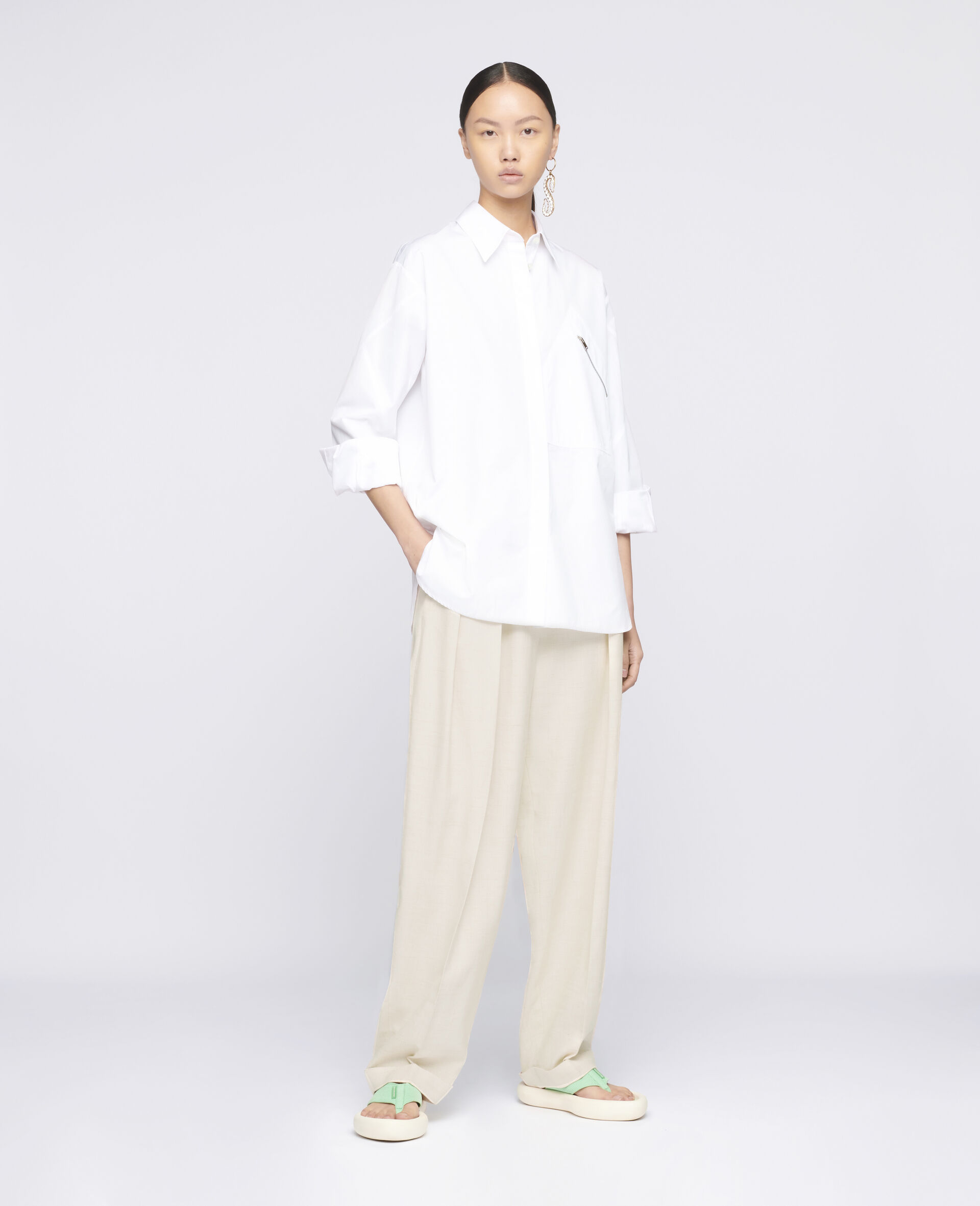 Clara 棉质衬衫-白色-large image number 1