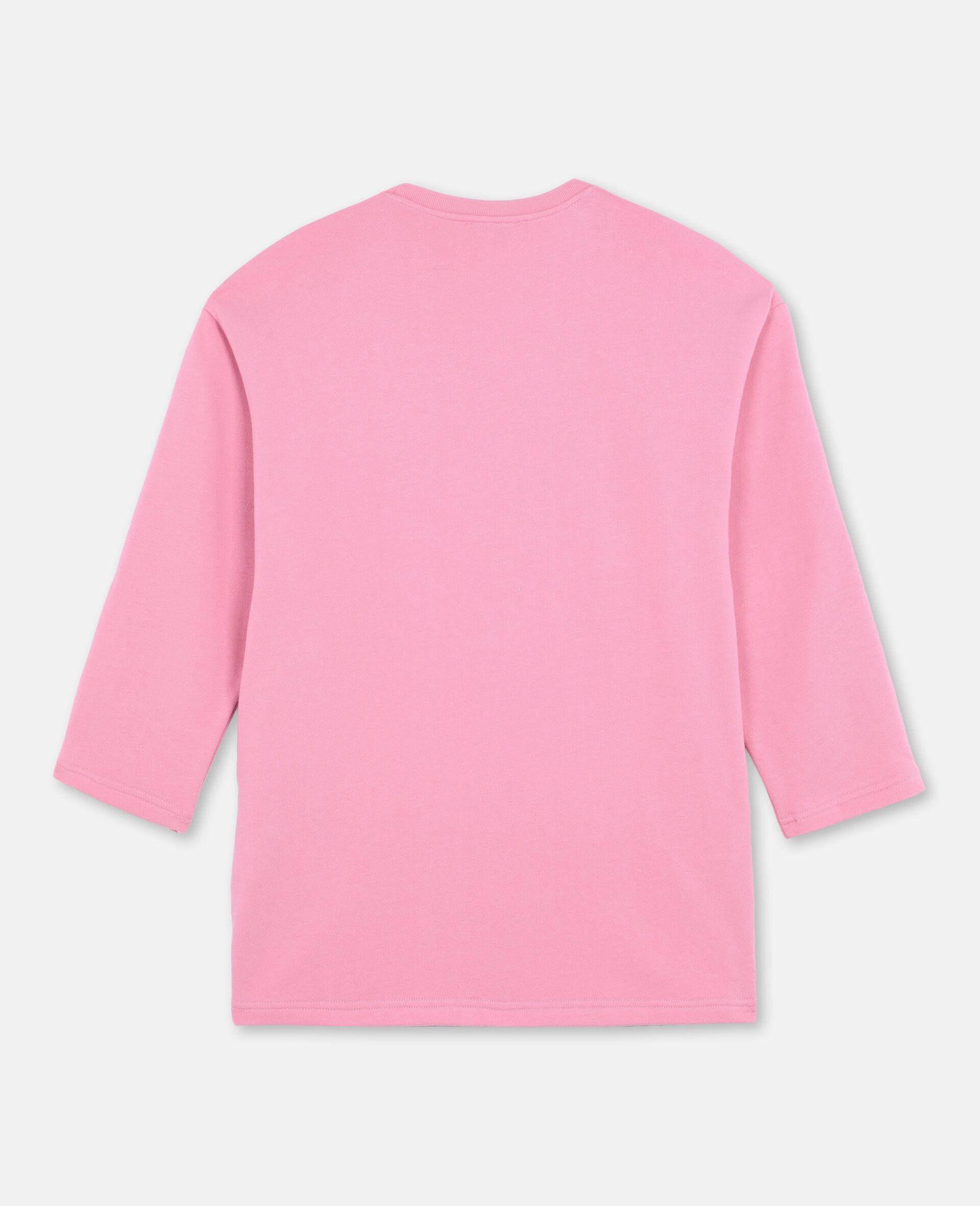 Star & Fringes Cotton Fleece Dress-Pink-large image number 3
