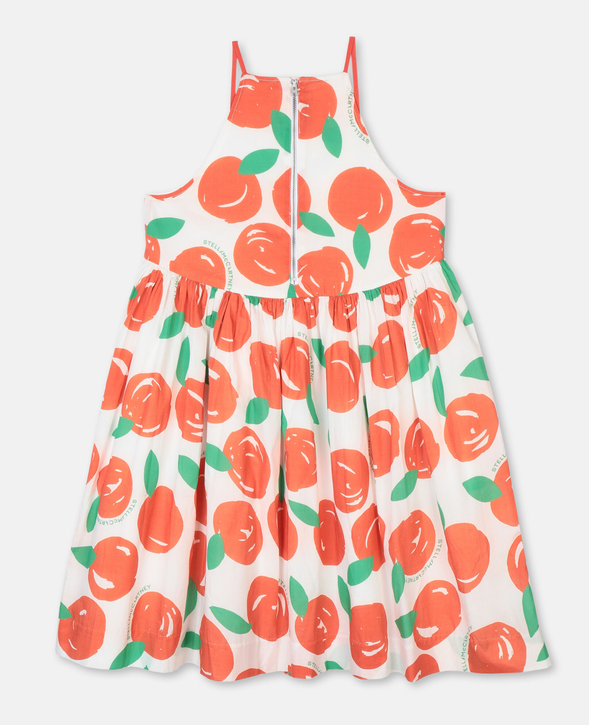 Clementines Cotton Dress-Red-large image number 3