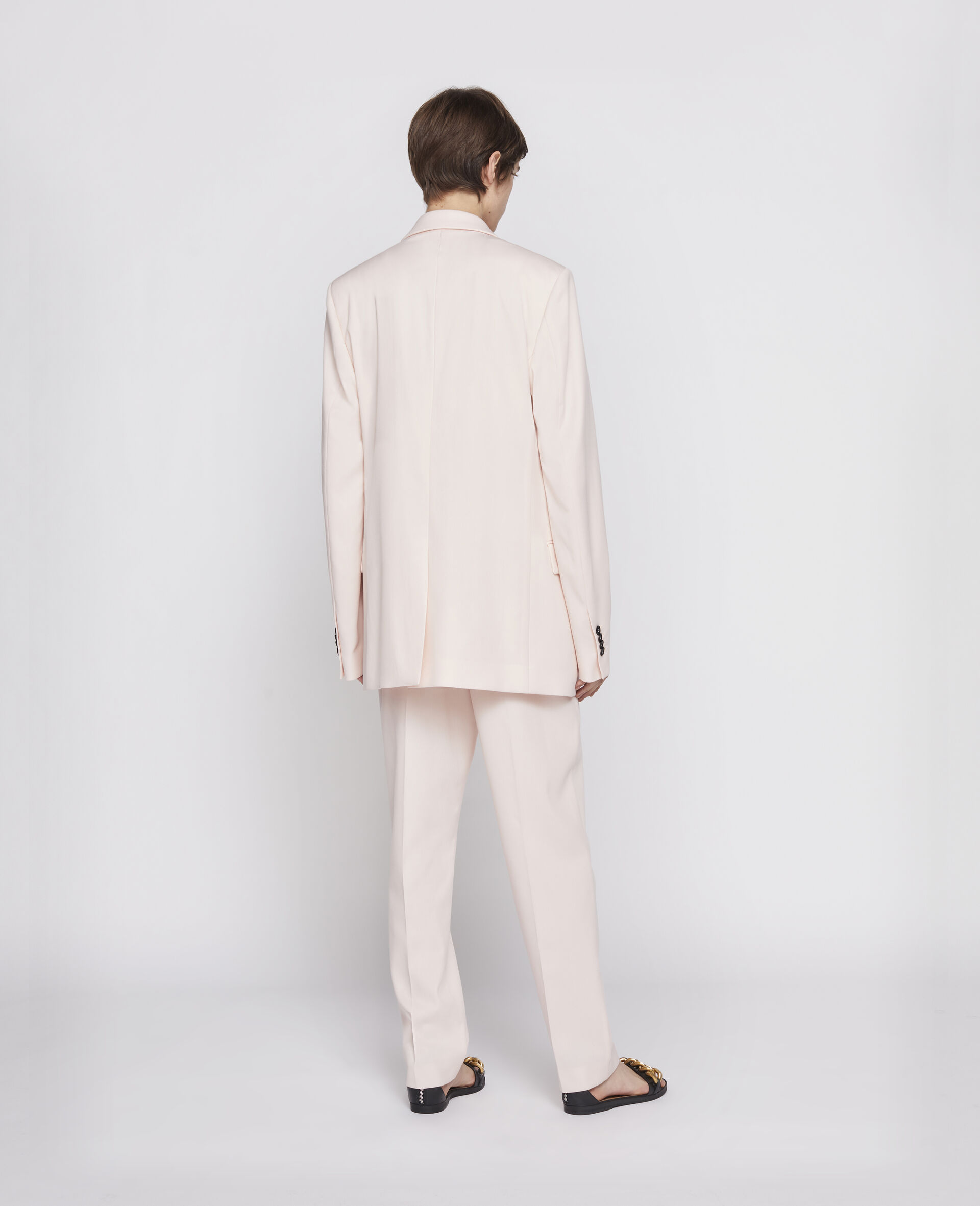 Wool Trousers-Pink-large image number 2