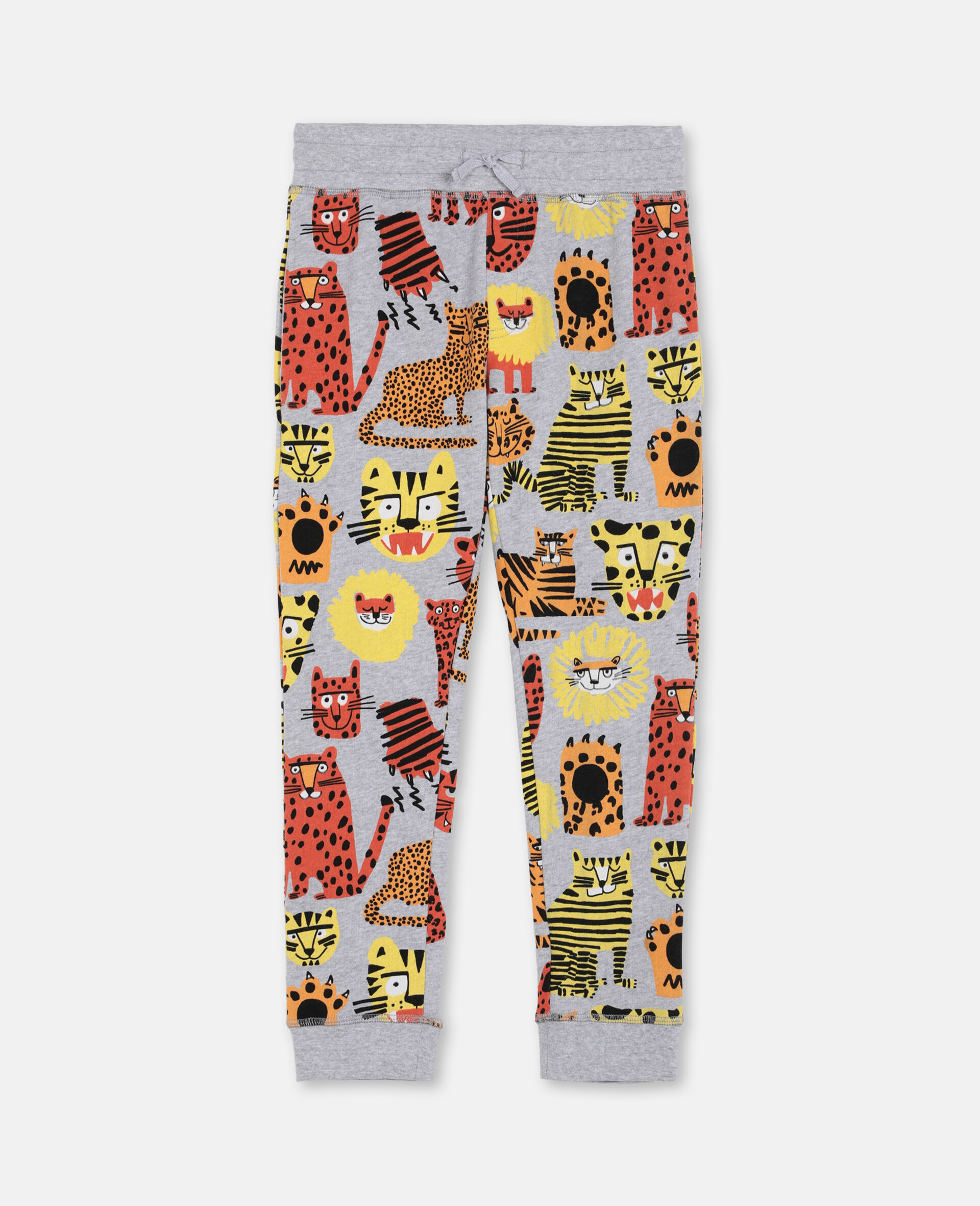 Pantalon de survêtement en coton à motif chats sauvages -Fantaisie-large image number 0