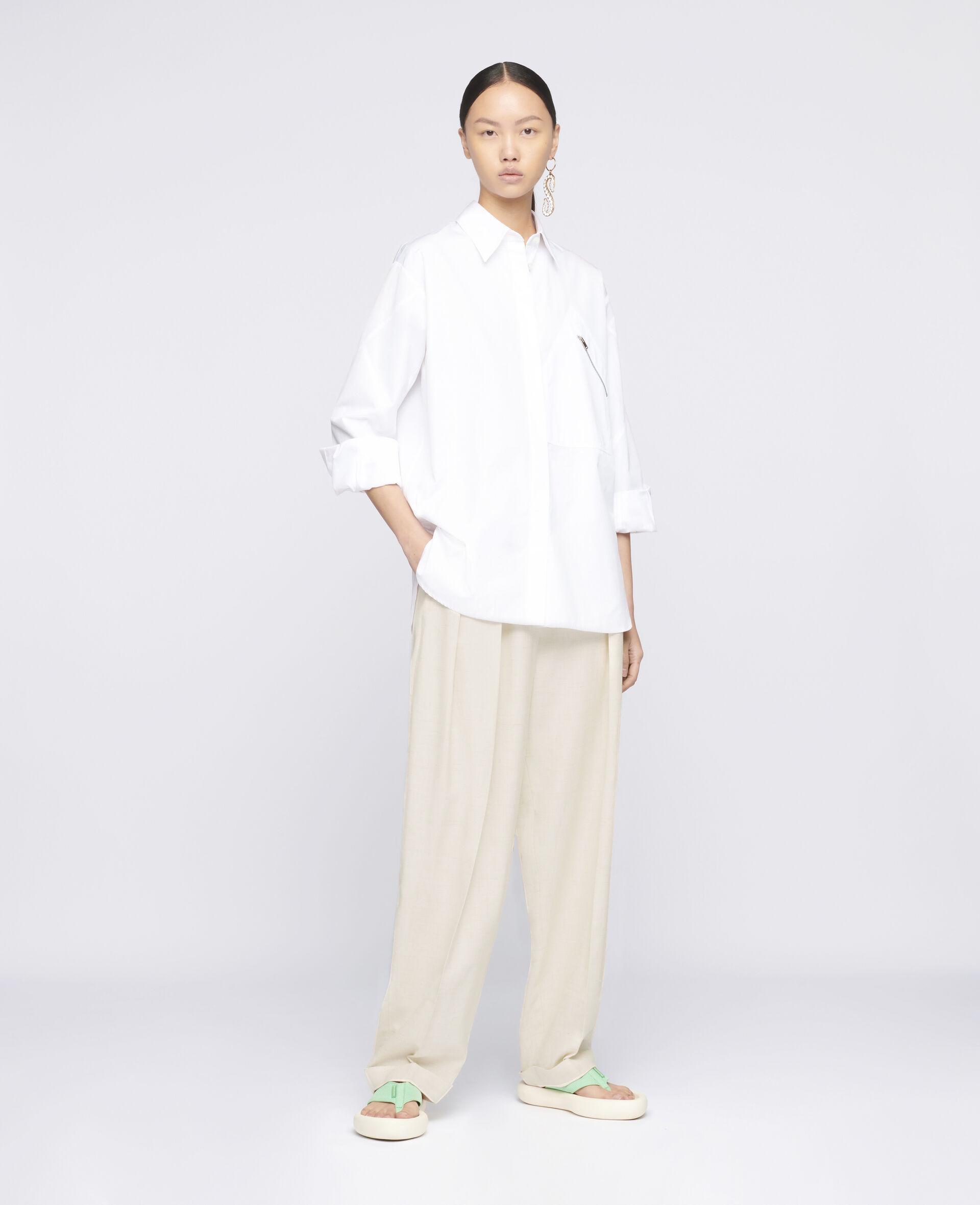 Clara Cotton Shirt-White-large image number 1