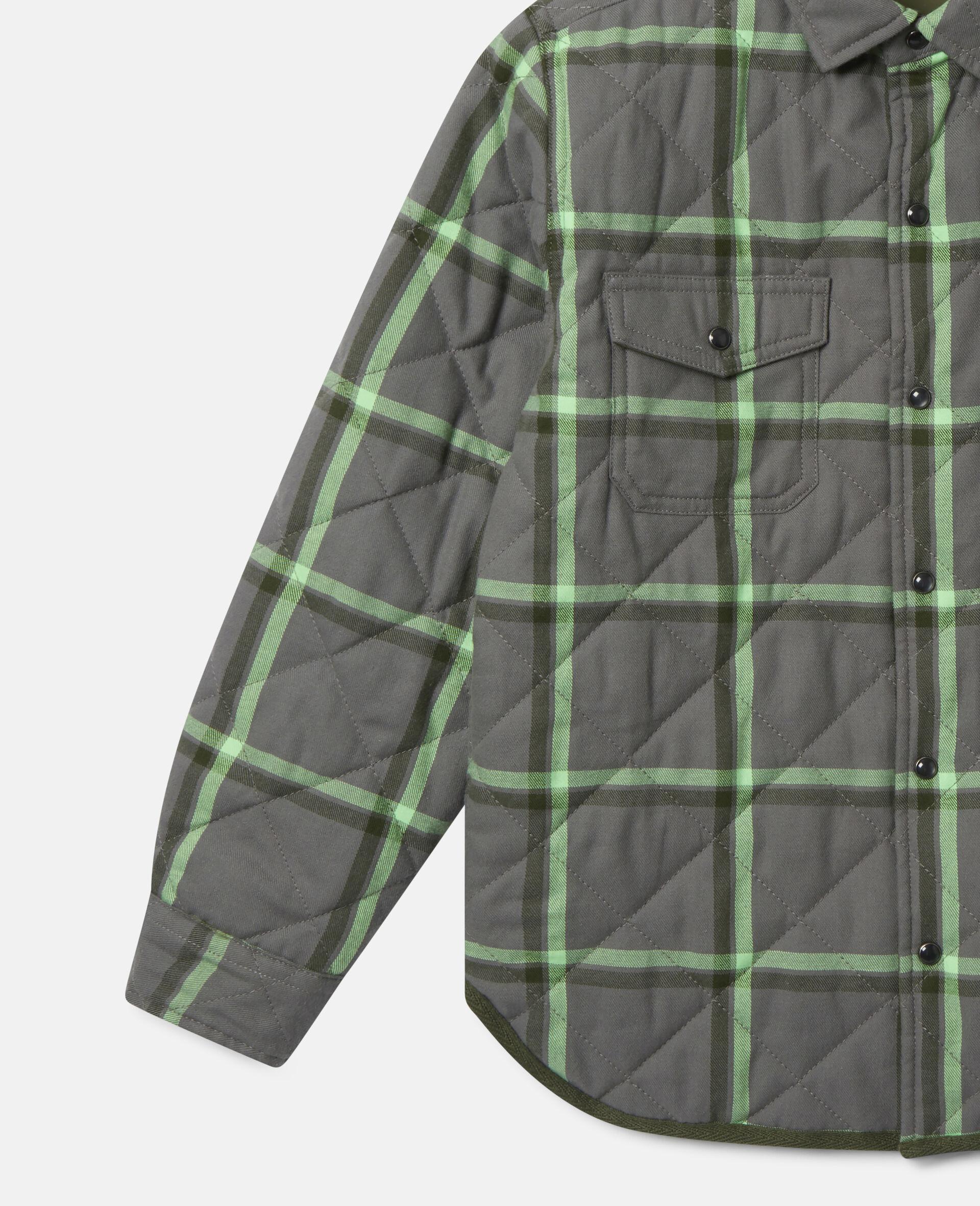 Checks Cotton Shirt-Grey-large image number 2