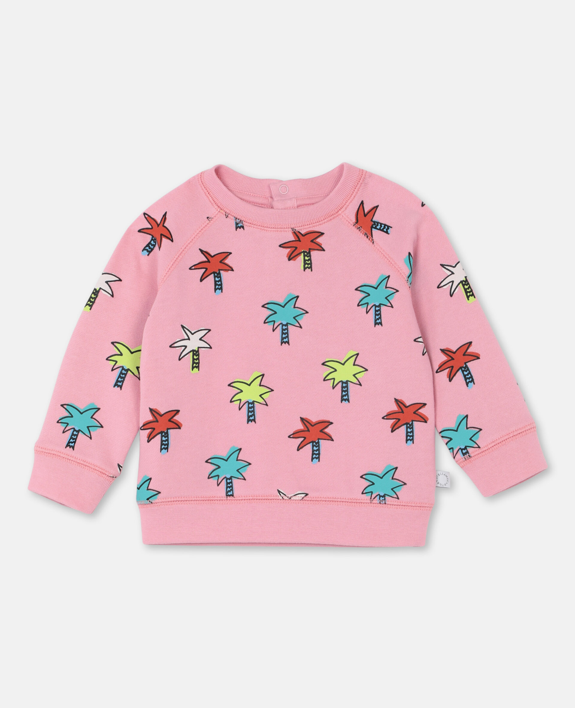 Doodly Palms Cotton Sweatshirt -Pink-large image number 0