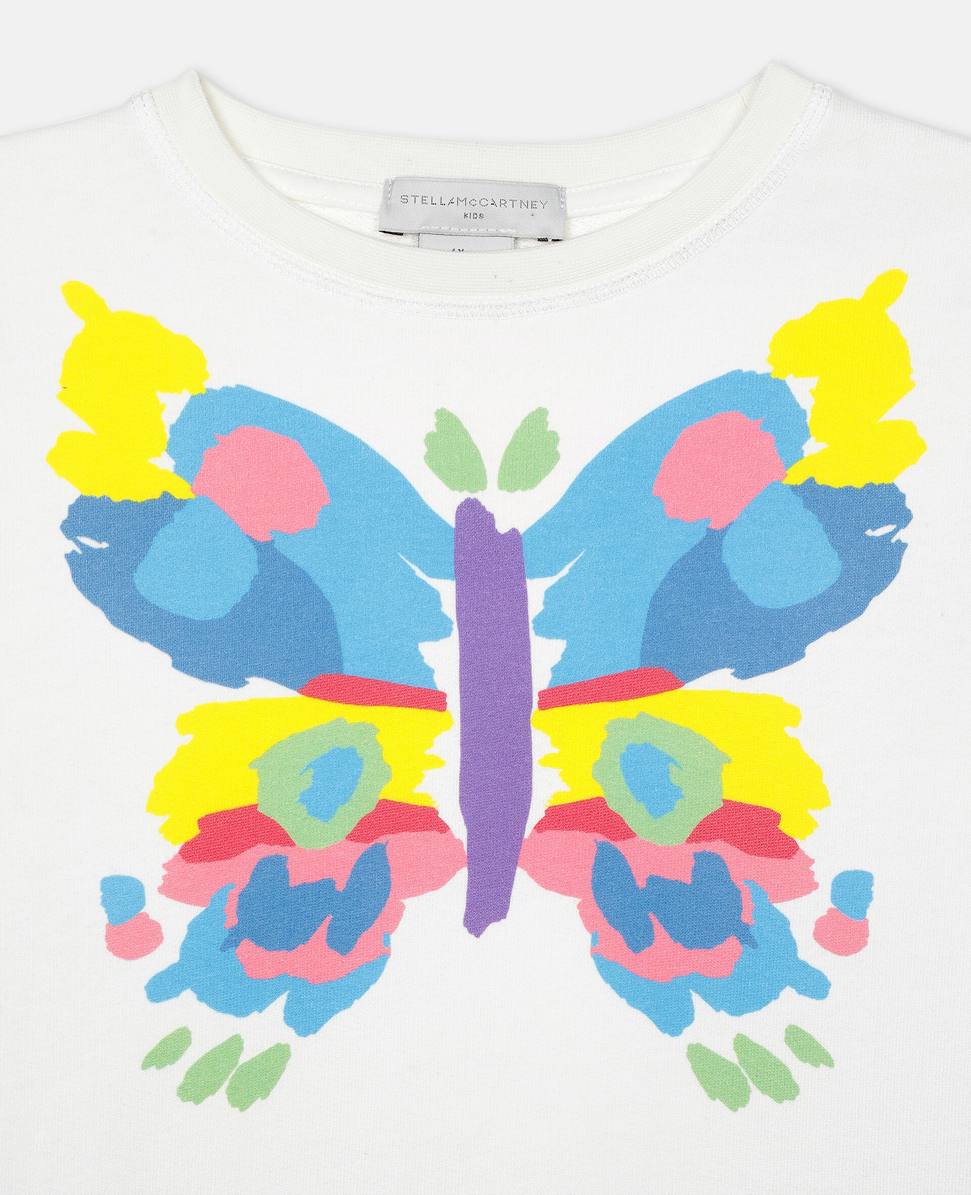 Butterfly Fleece Dress-White-large image number 2