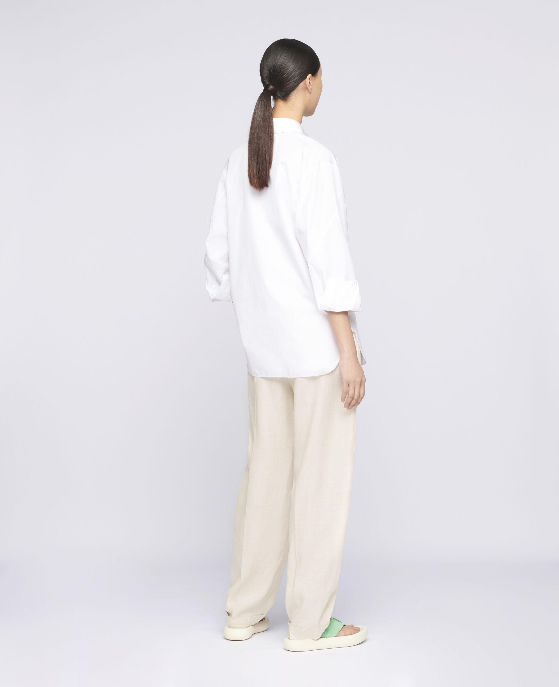 Clara Cotton Shirt-White-large image number 2