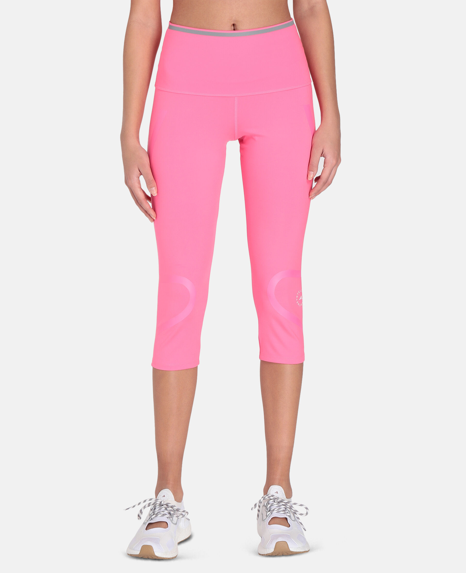 TruePace 3/4 Running Tights-Pink-large image number 4
