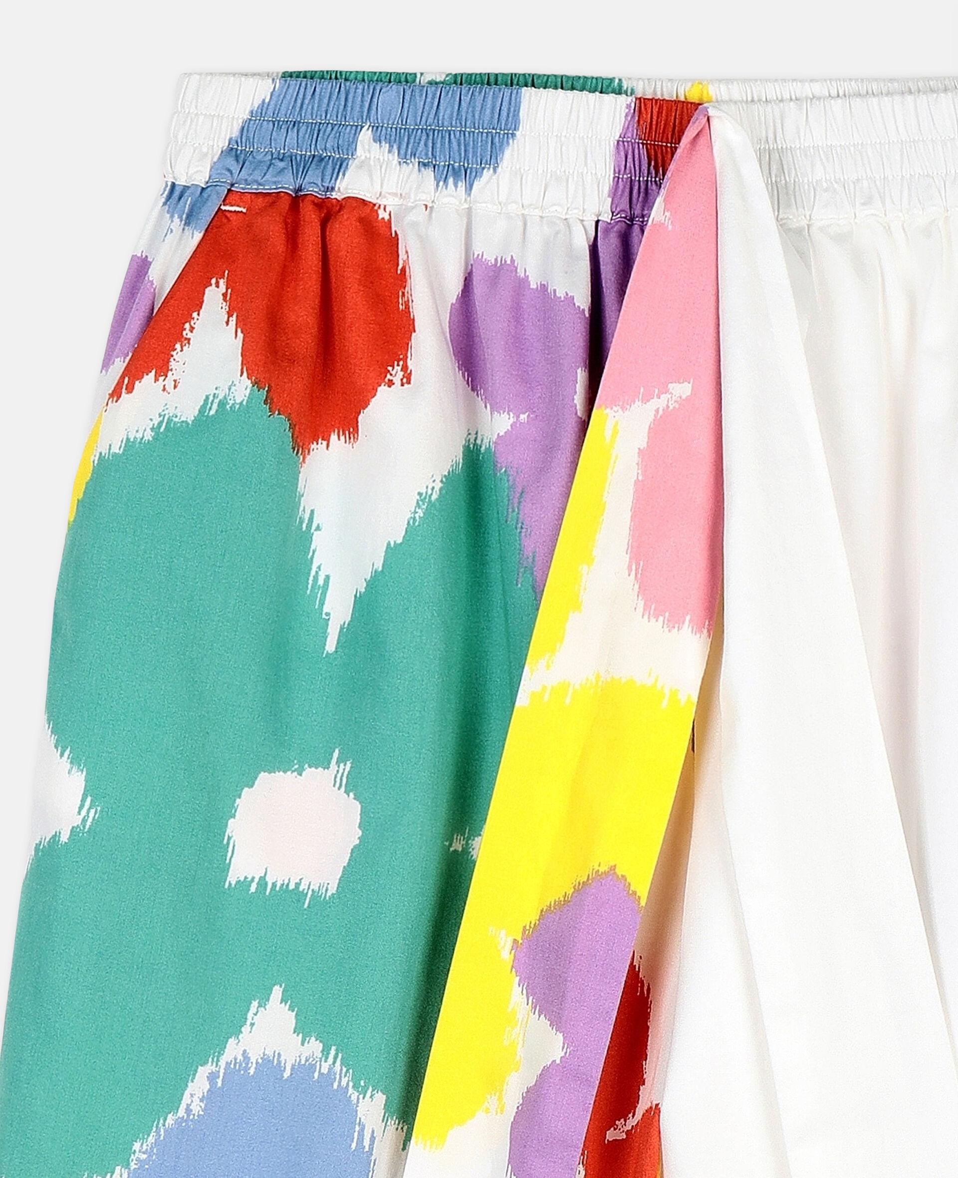Flower Cotton Trousers-Multicolour-large image number 1
