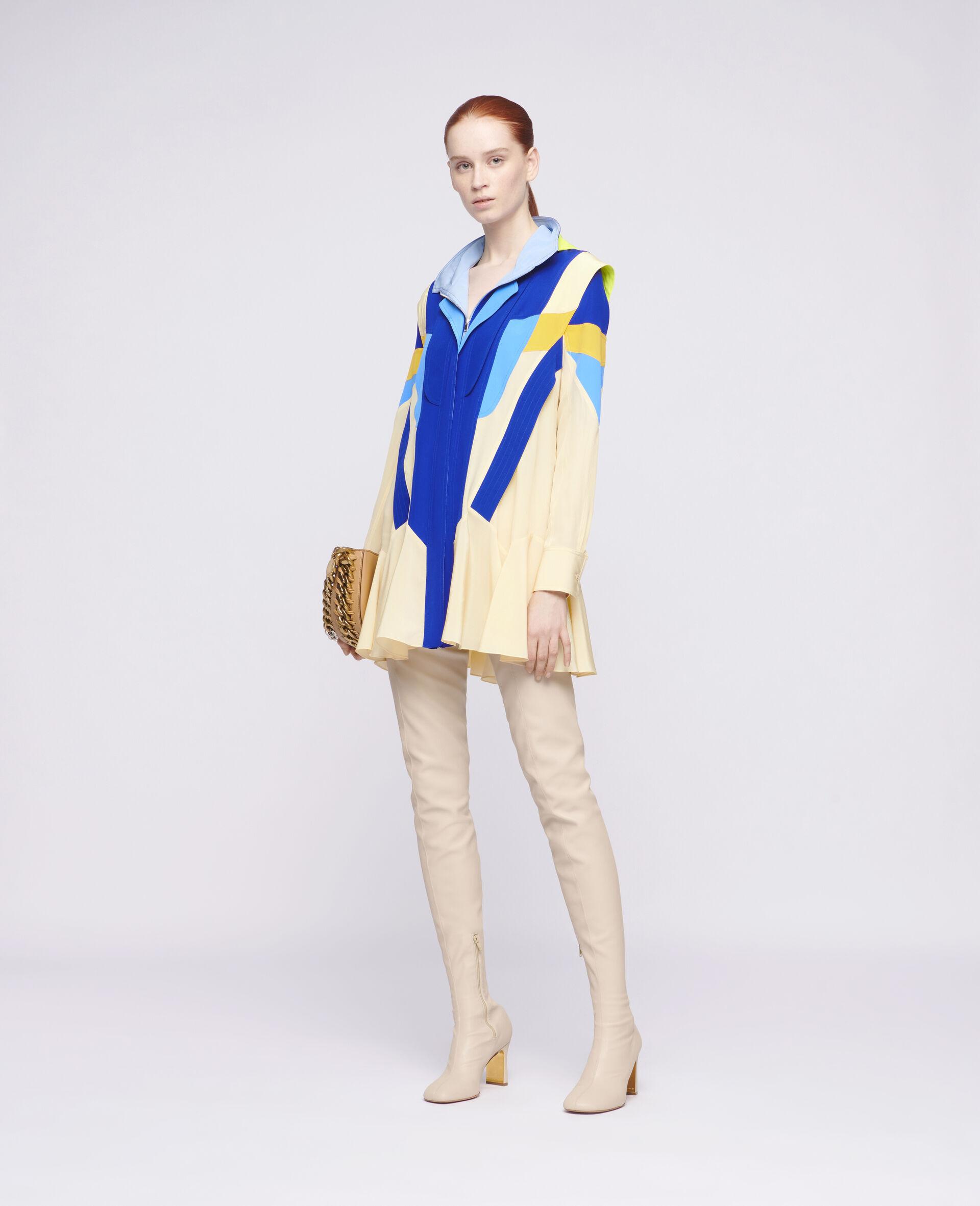 Monica Silk Dress-Beige-large image number 1