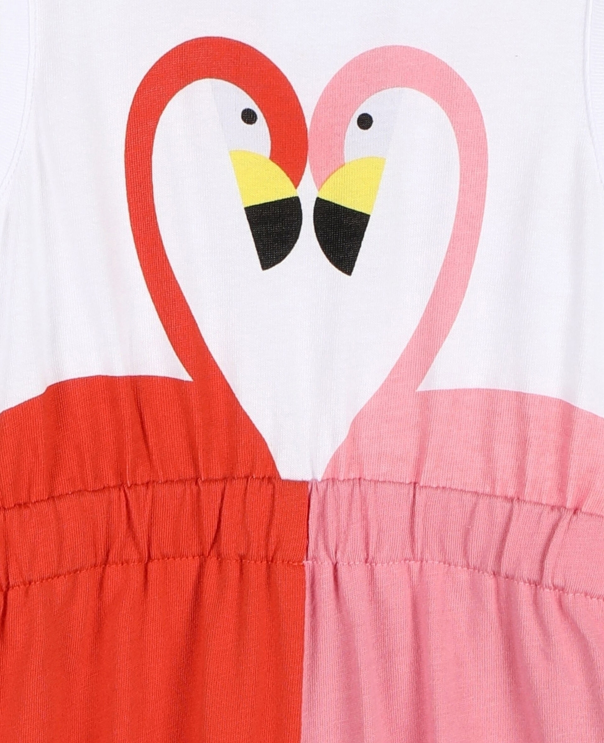 Overall aus Baumwolle mit Flamingo-Weiß-large image number 1