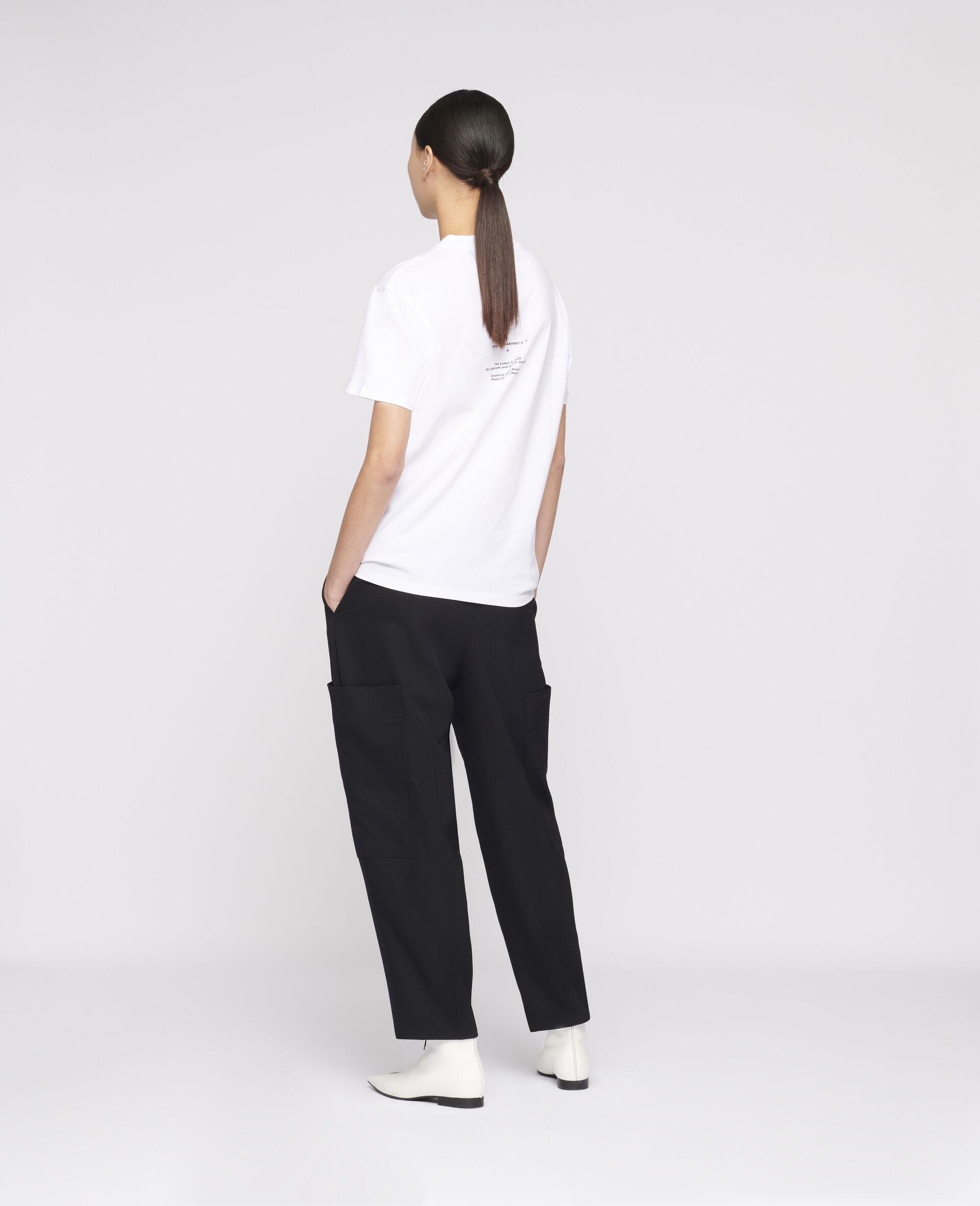 "Ed Ruscha ""X"" T-shirt-White-large image number 2"