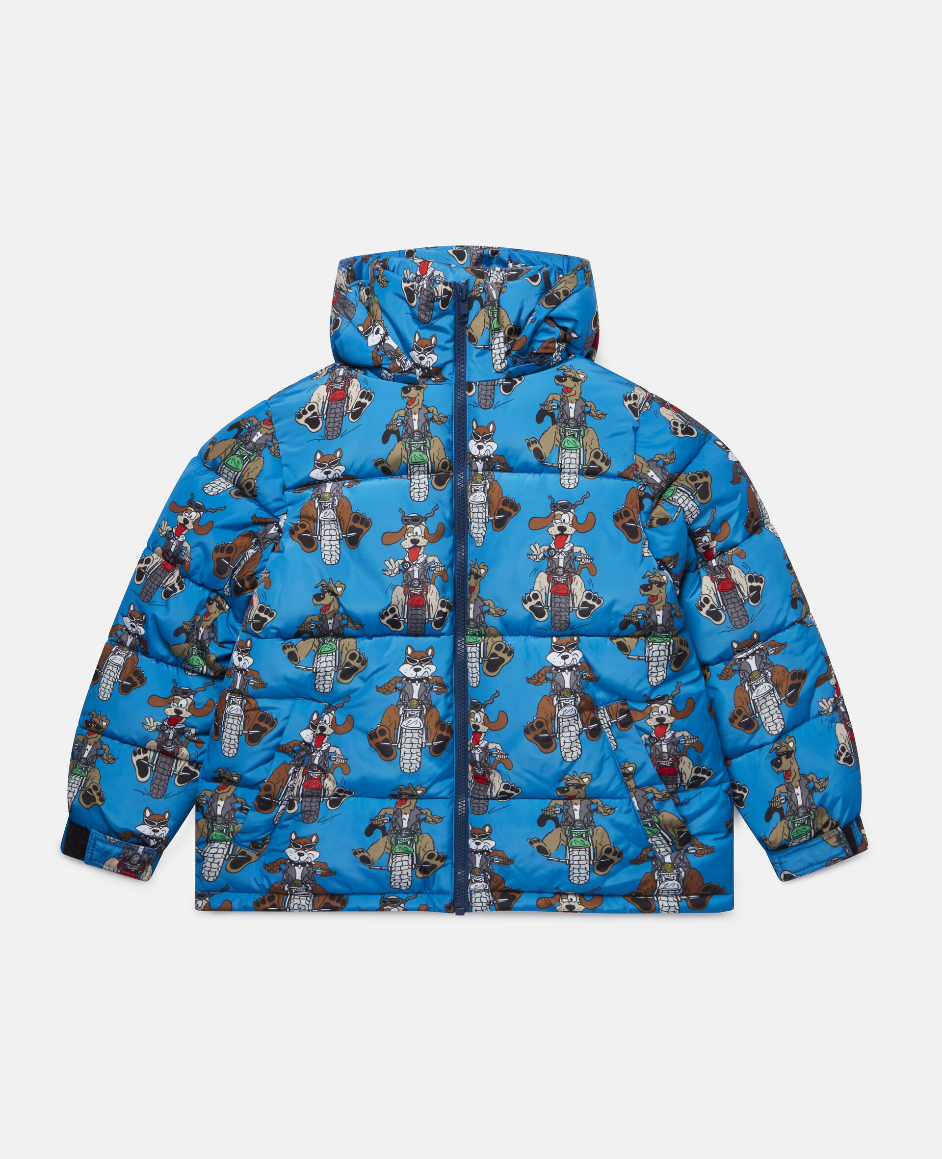 Doggies Riders Puffer Jacket-Blue-large image number 0