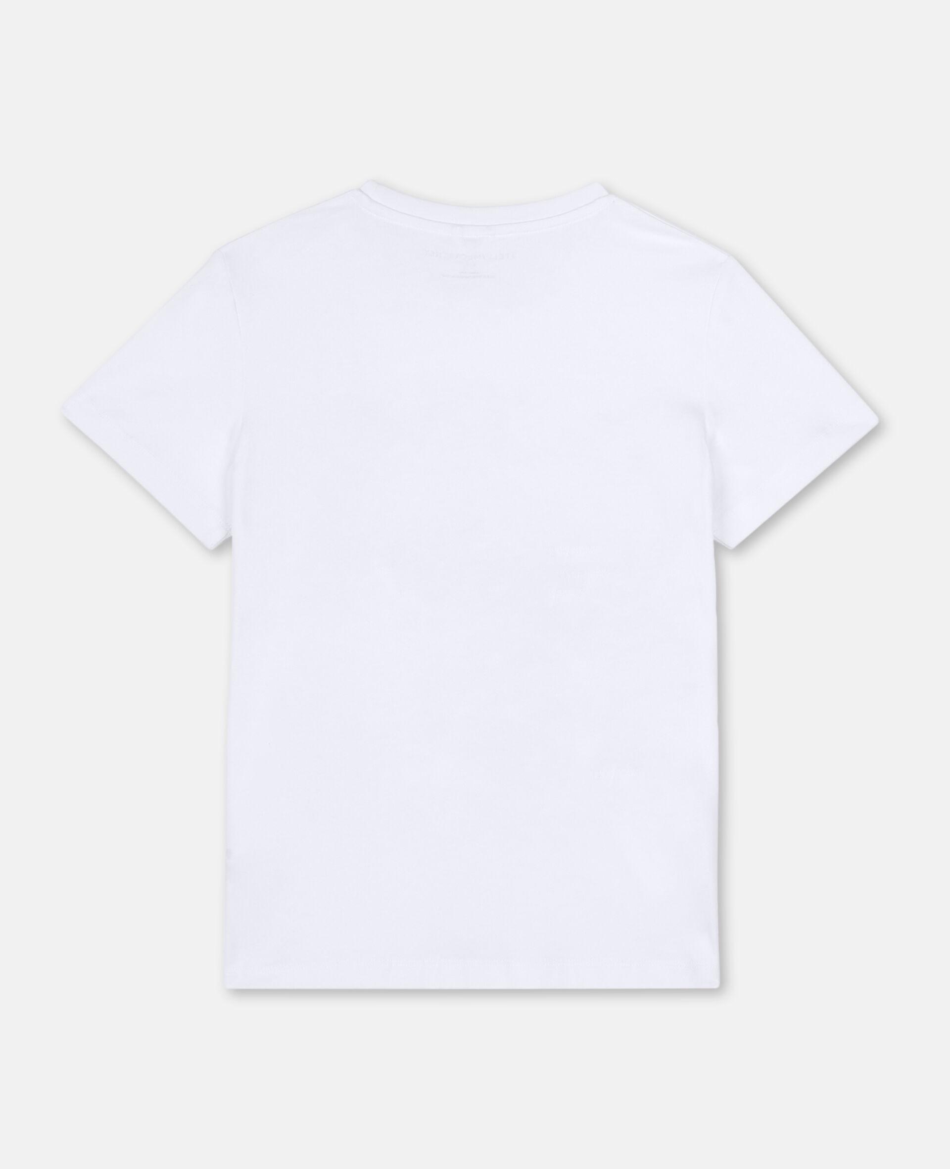 Flamingo Cotton T-shirt-White-large image number 3