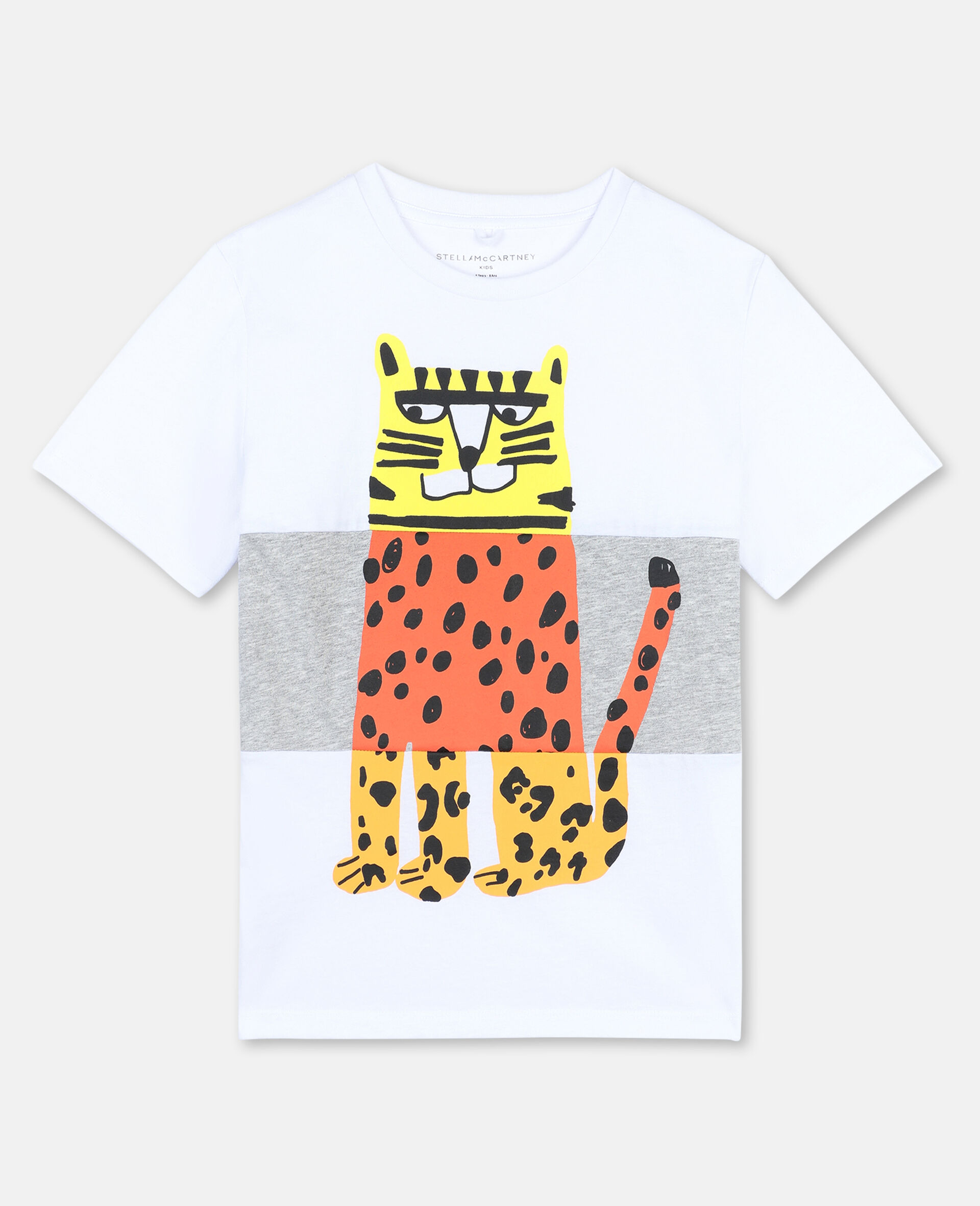 Tiger Cotton T-shirt -White-large image number 0
