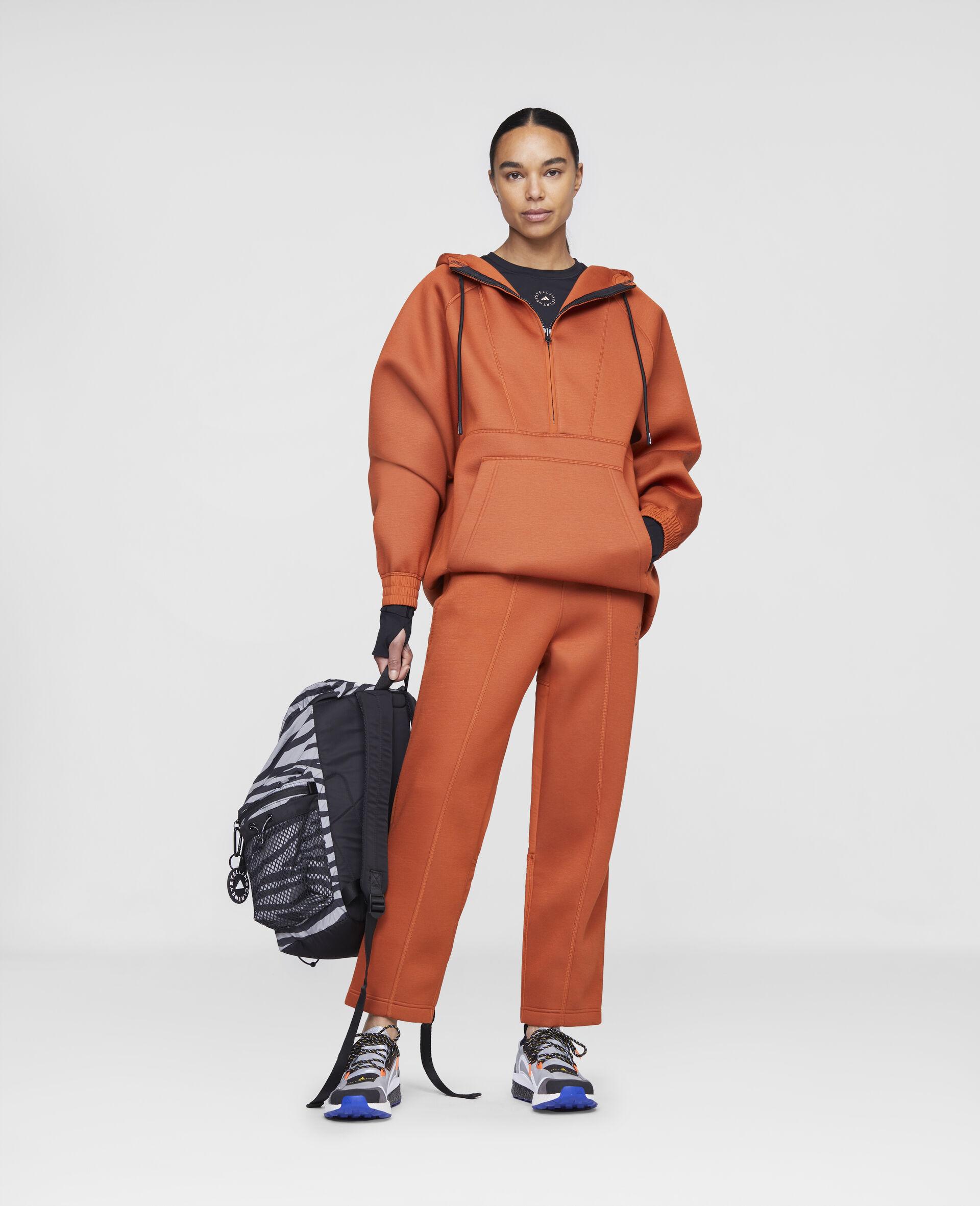 Sweat de sport à capuche orange-Orange-large image number 1